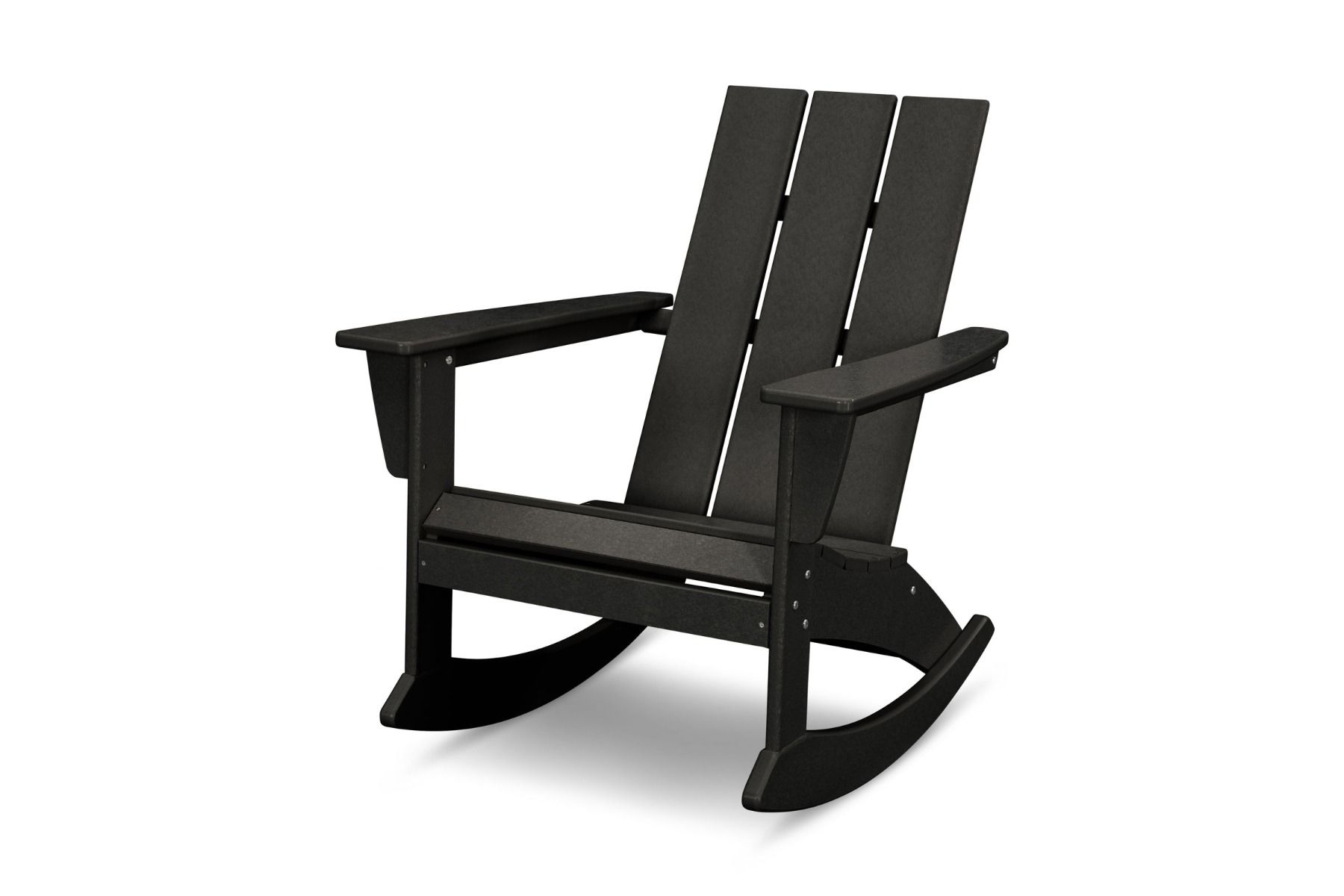 Inspiration about Modern Adirondack Rocking Chair Adr420 With Regard To Traditional Style Wooden Rocking Chairs With Contoured Seat, Black (#20 of 20)