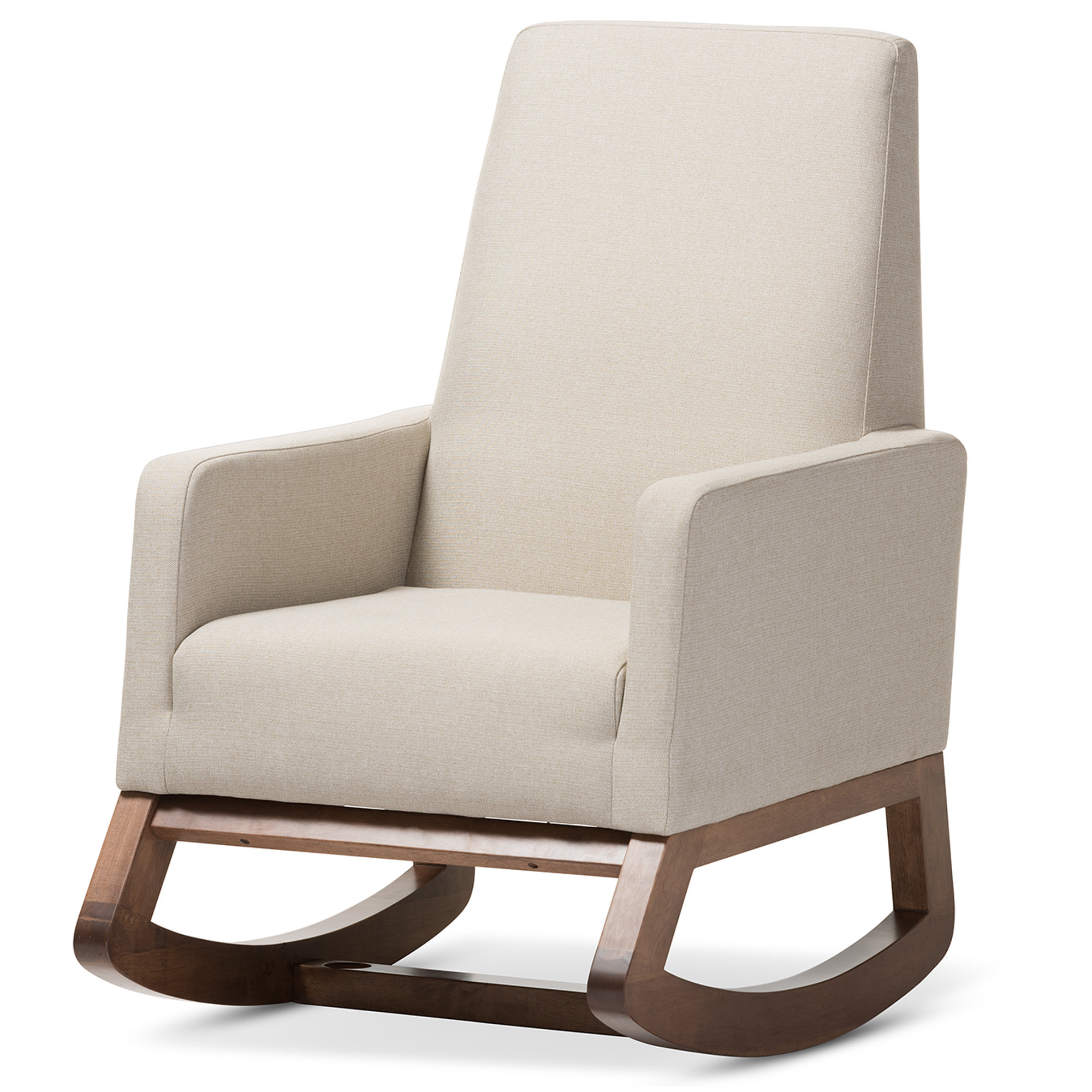 Inspiration about Modern & Contemporary Nola Rocking Chair | Allmodern Inside Rocking Chairs In Linen Fabric With Brushed Finish Base (#7 of 20)