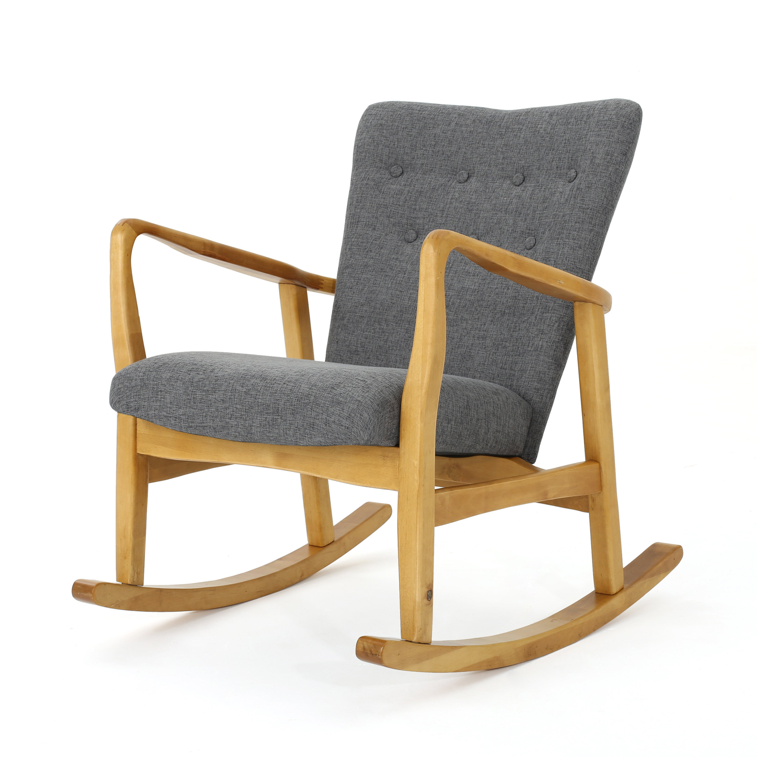 Inspiration about Modern & Contemporary Nola Rocking Chair | Allmodern Within Rocking Chairs In Linen Fabric With Brushed Finish Base (#9 of 20)