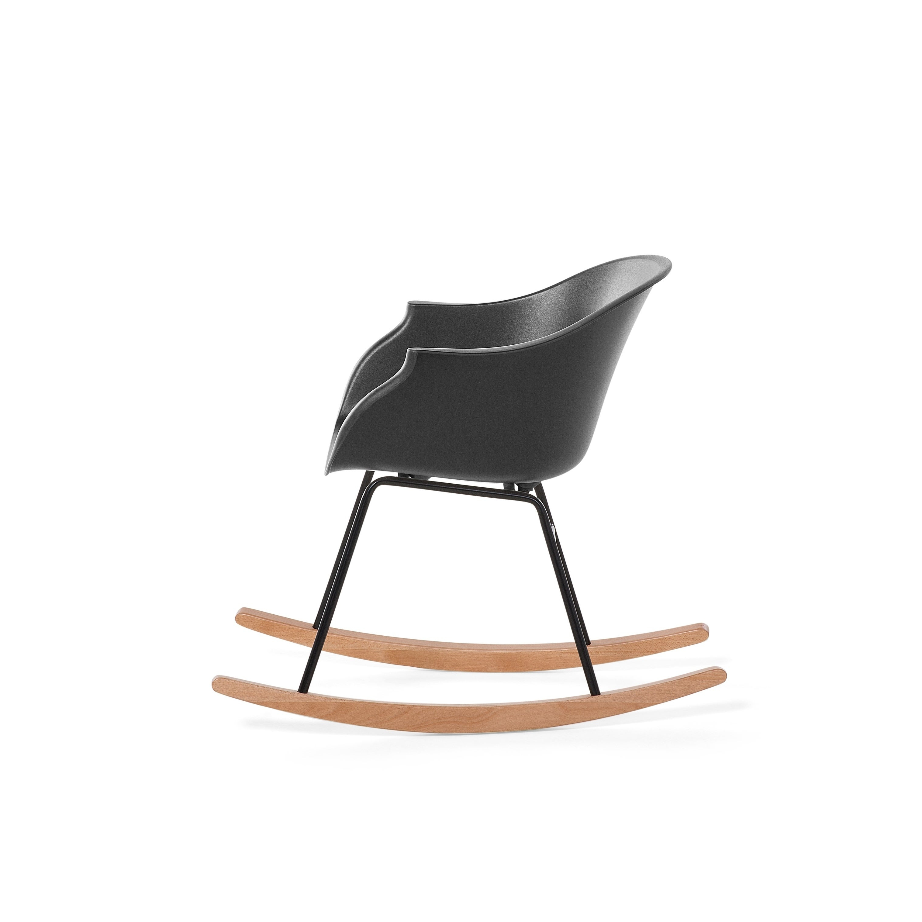 Modern Rocking Chair Black Harmony With Regard To Radford Traditional Rocking Chairs (View 17 of 20)