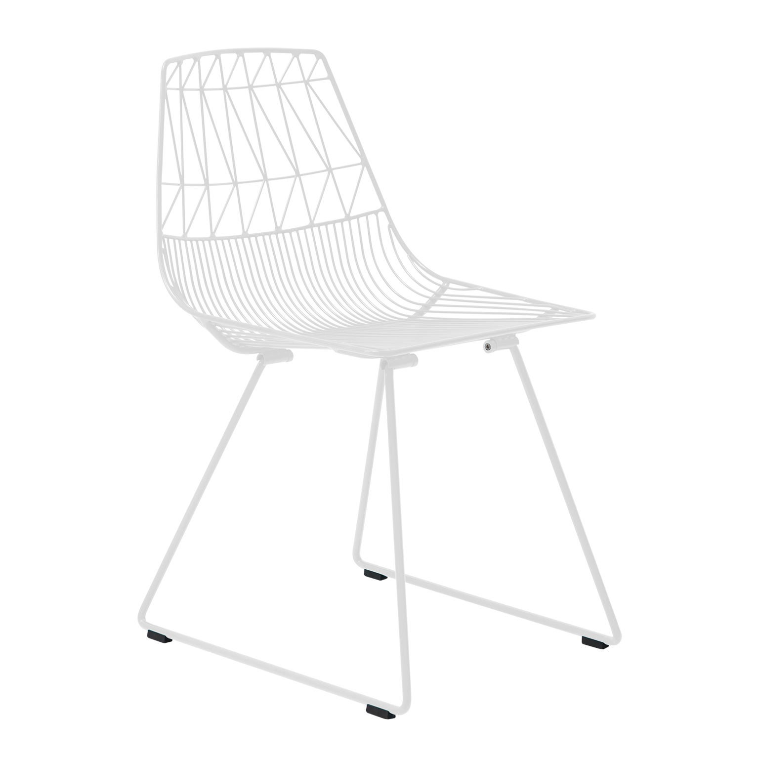 "Modern Wire Dining ""lucy Chair""bend Goods Inside Ethel Country White Rocking Chairs (#12 of 20)"