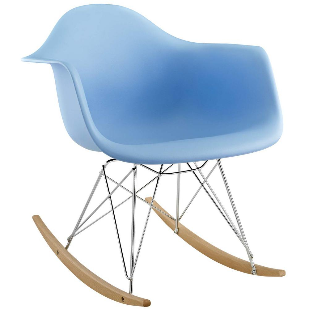 Modway Rocker Blue Plastic Lounge Chair Eei 147 Blu – The Intended For Poly And Bark Teal Rocking Chairs Lounge Chairs (View 5 of 20)