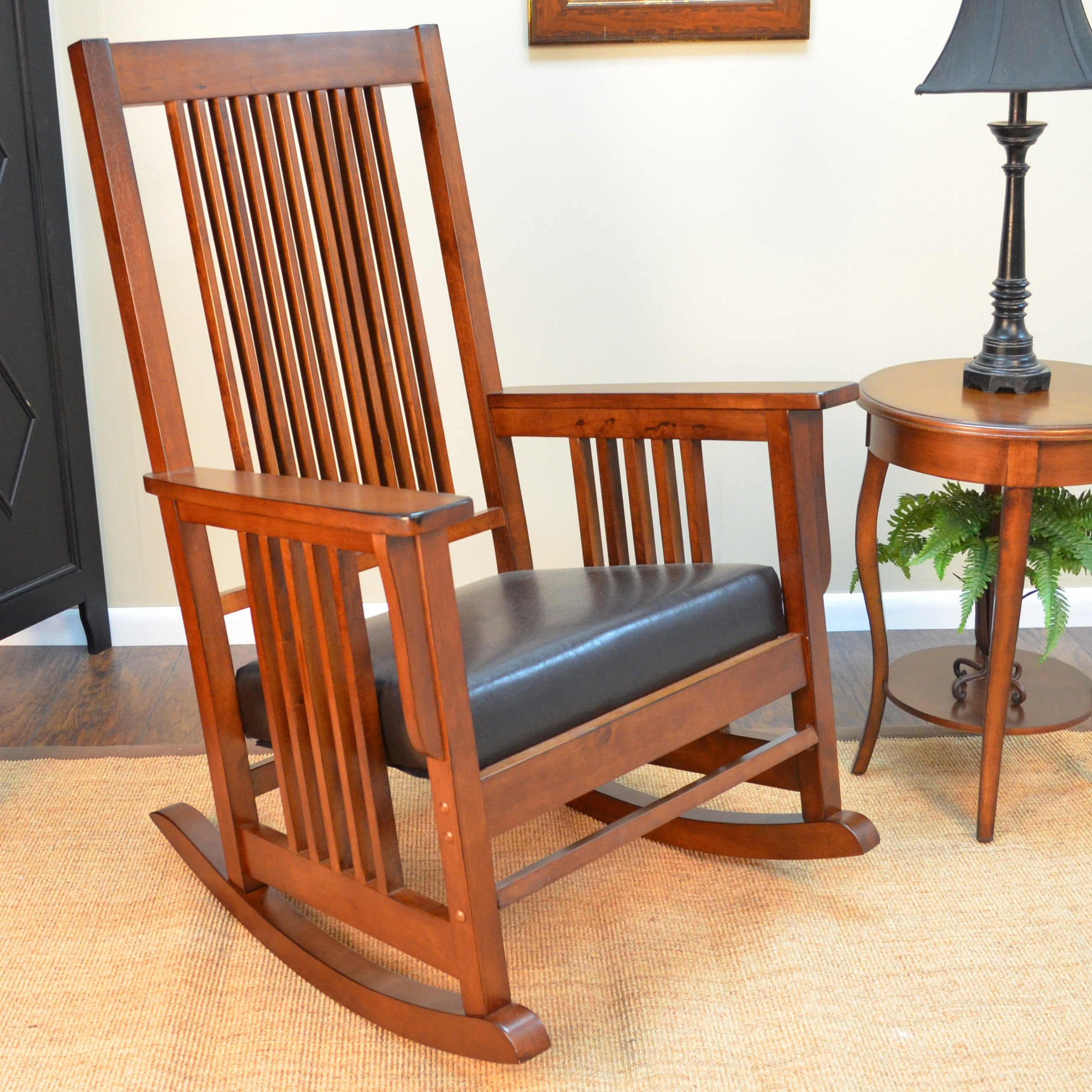 Montego Deluxe Mission Rocker Chair Pertaining To Poppy Mission Espresso Rocking Chairs (#11 of 20)