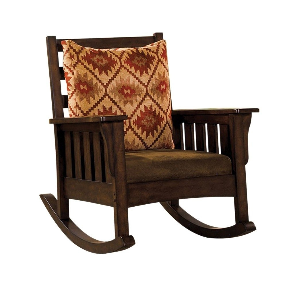Morrisville Traditional Accent Chair, Dark Oak For Luxury Mission Style Rocking Chairs (#16 of 20)