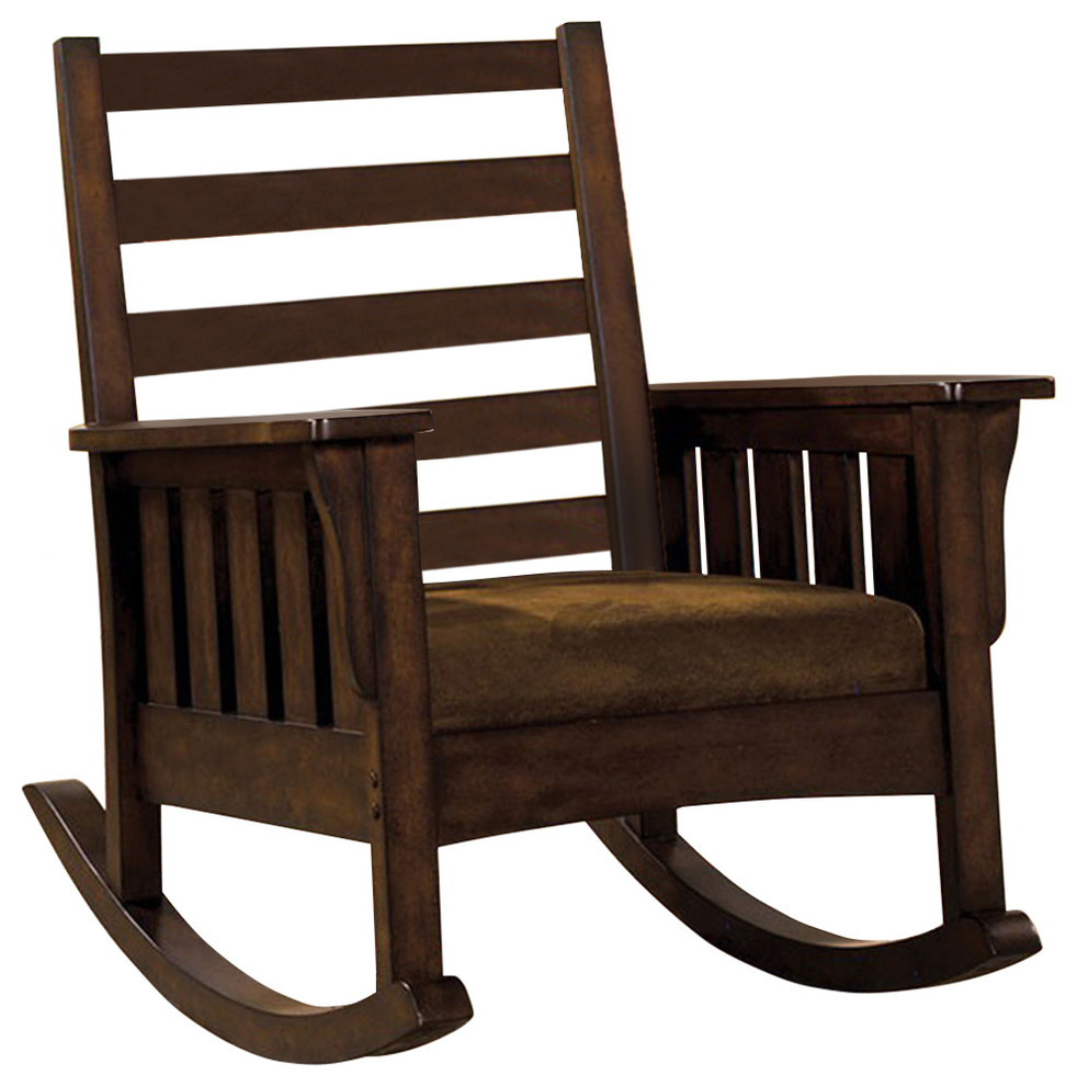 Morrisville Traditional Accent Chair, Dark Oak Within Antique Transitional Warm Oak Rocking Chairs (View 15 of 20)