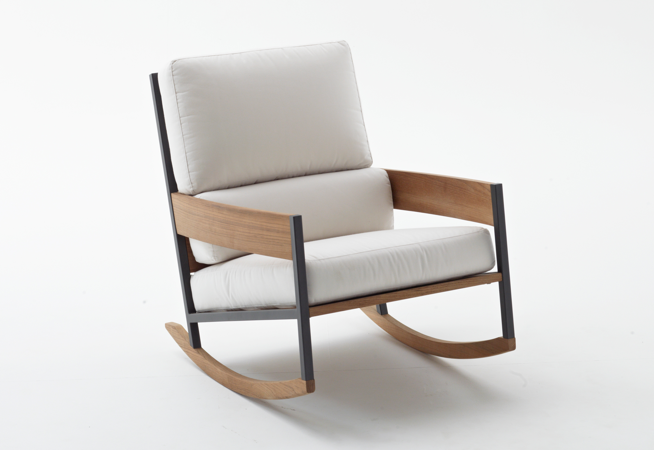 Nap Rocking Chairroda | Stylepark Intended For Rocking Chairs In Linen Fabric With Brushed Finish Base (#9 of 20)