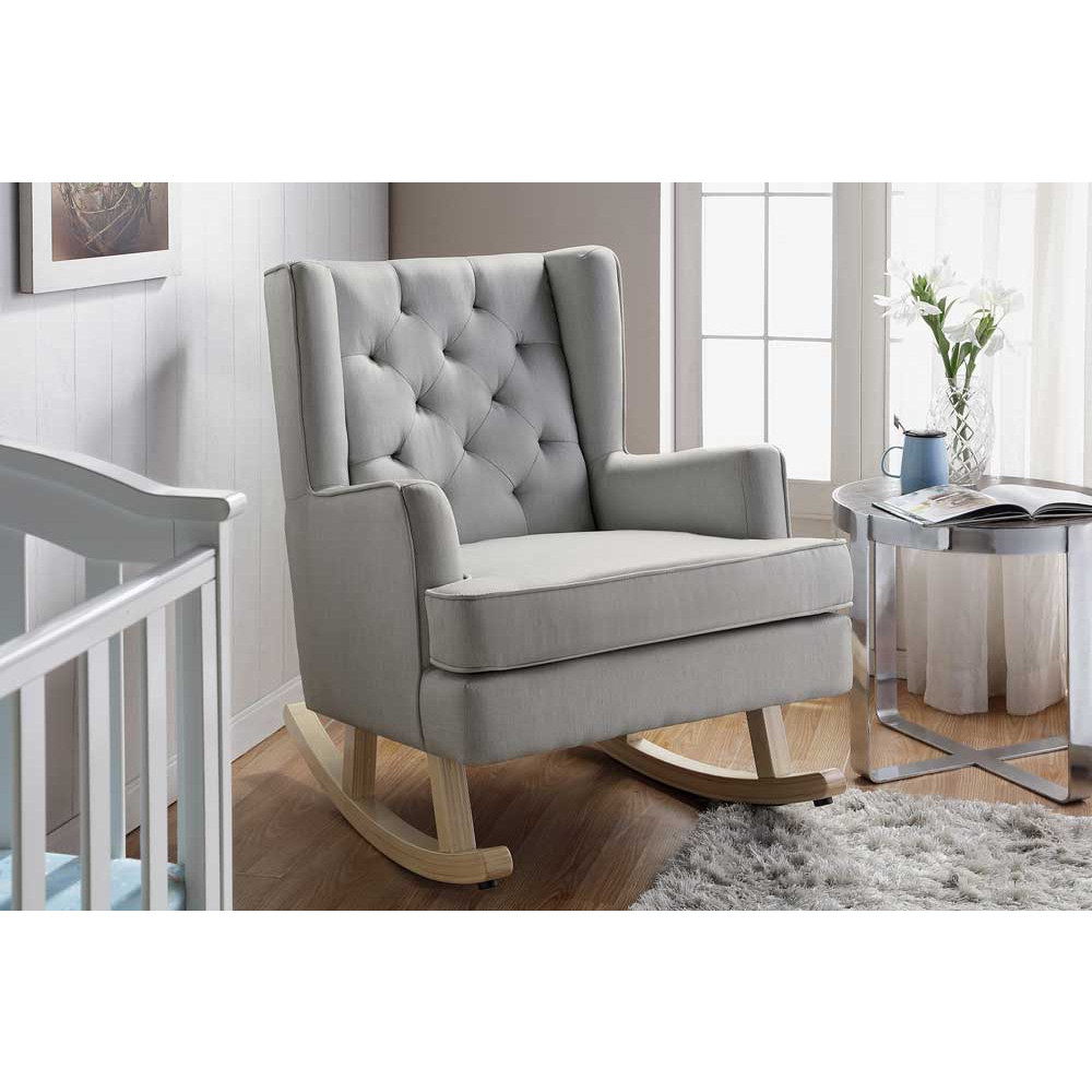 Nested Soothe Easy Chair And Rocker With Regard To Rocking Chairs & Lounge Chairs In Grey (View 9 of 20)