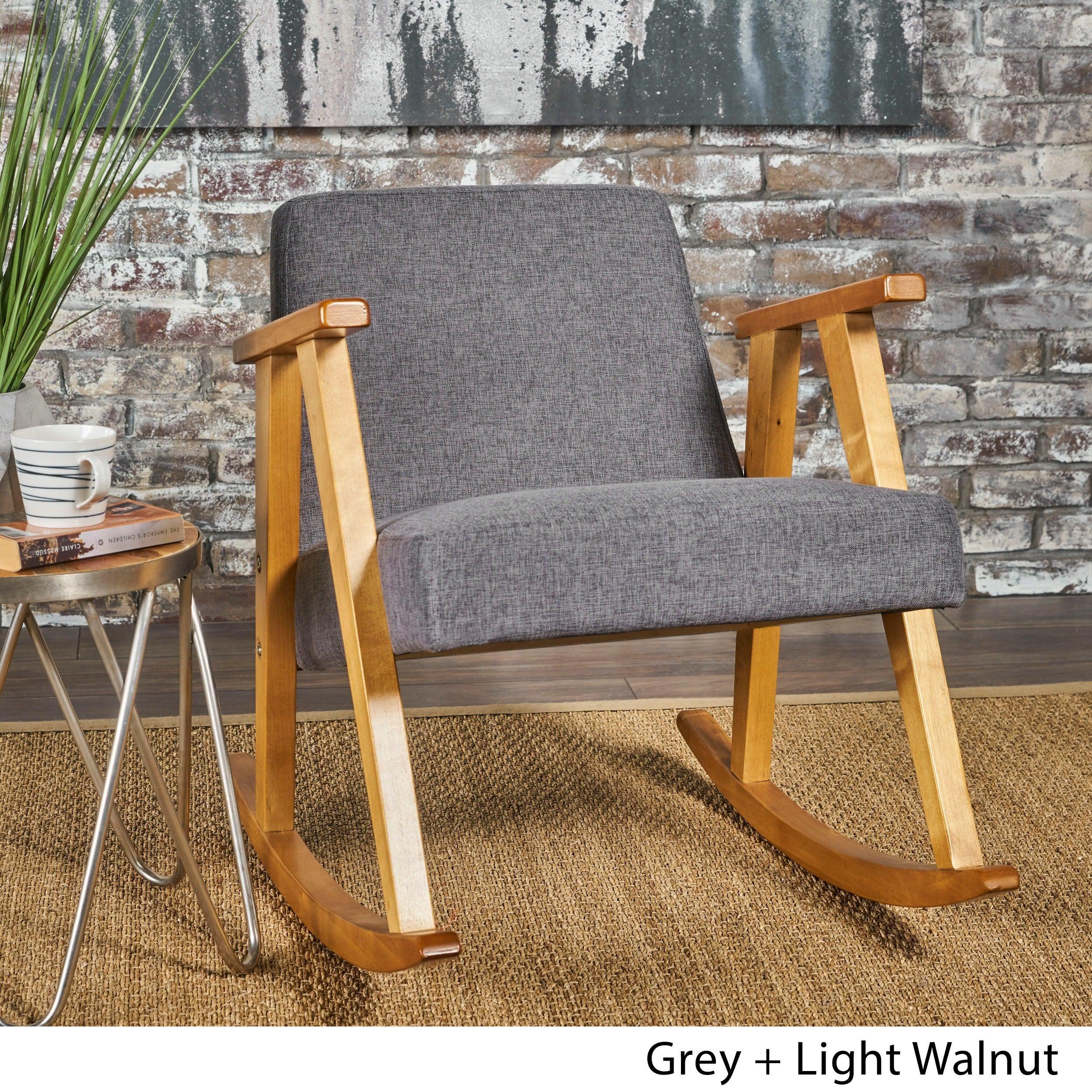 Popular Photo of Mid Century Modern Fabric Rocking Chairs