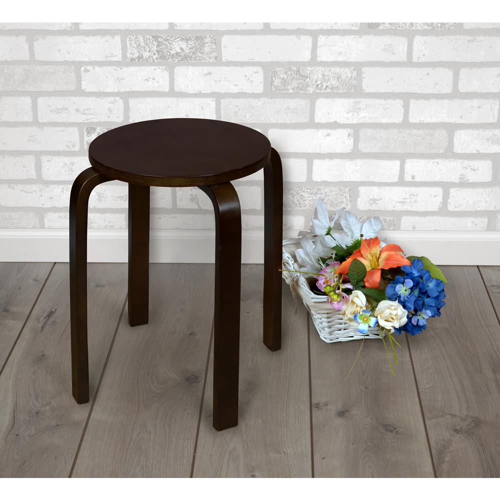 Niche Mia Mocha Walnut Bentwood Accent Stool | Products With Mia Bentwood Chairs (#14 of 20)
