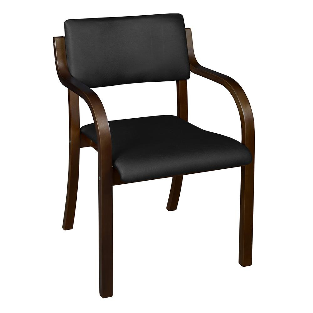 Niche Mia Mocha Walnut/black Vinyl Bentwood Stack Chair With Mia Bentwood Chairs (#16 of 20)