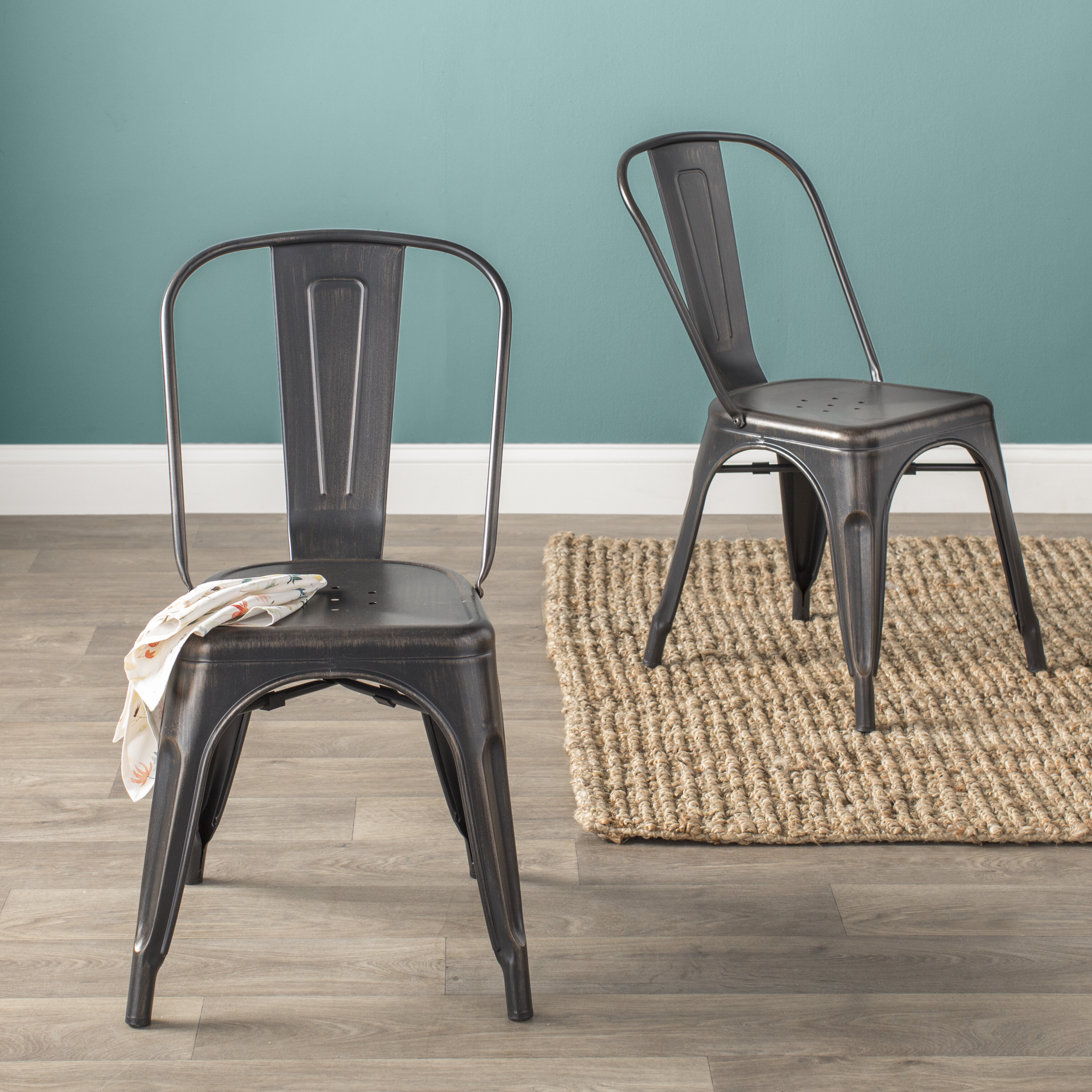 Norman Side Chair | Wayfair Inside Carbon Loft Ariel Rocking Chairs In Espresso Pu And Walnut (View 10 of 20)