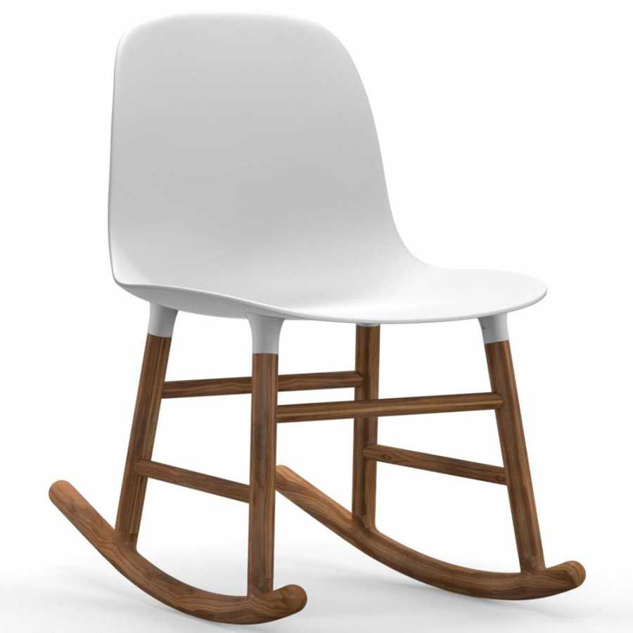 Normann Copenhagen Form Rocking Chair – Walnut Throughout Dark Walnut Rocking Chairs (View 13 of 20)