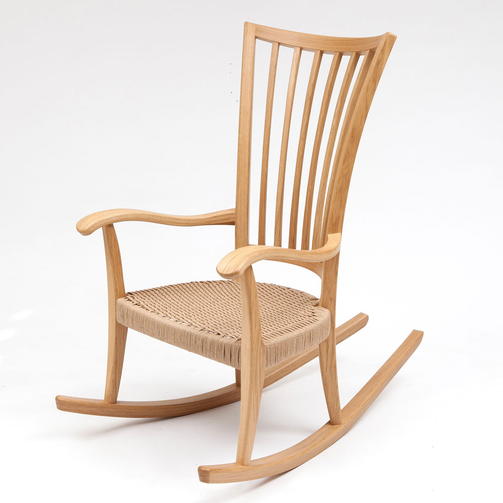Oak Rocking Chair Inside Oak Carved Rocking Chairs Chairs (#18 of 20)
