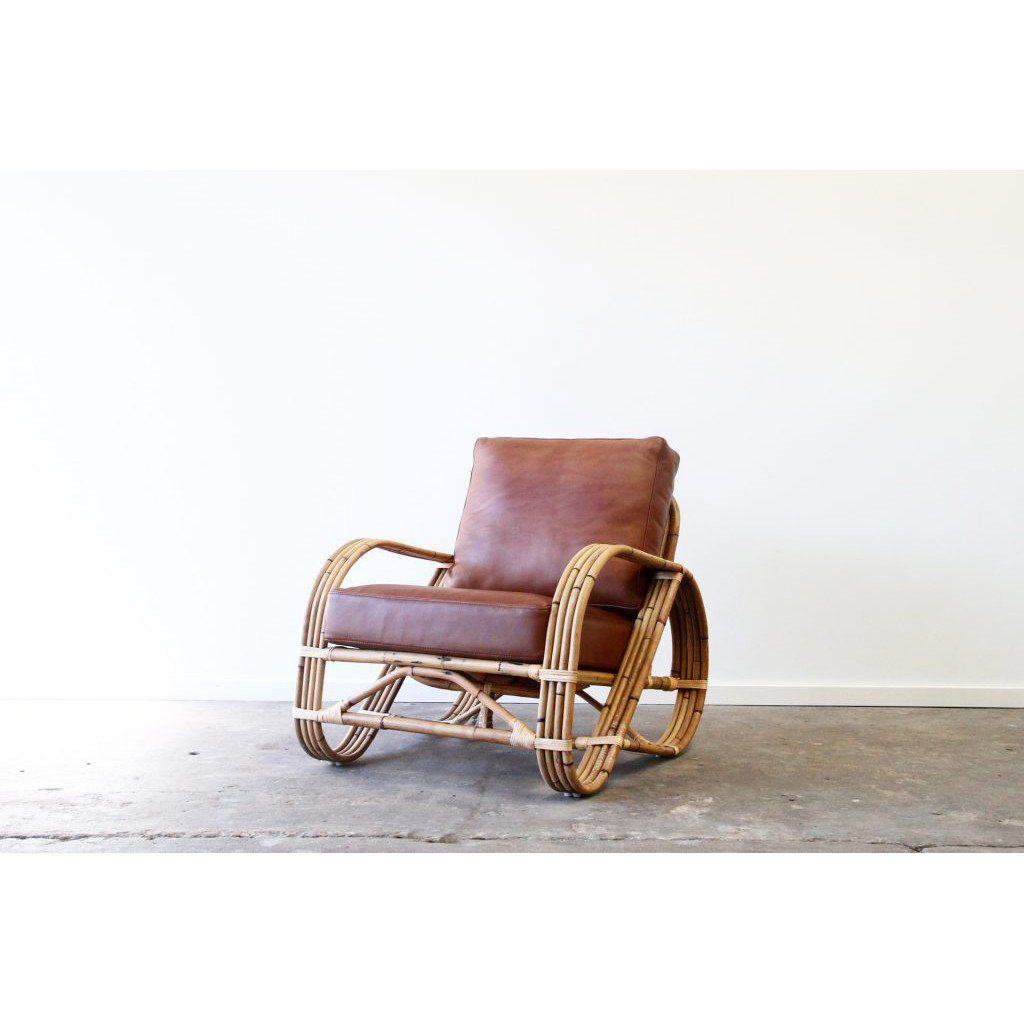 Occasional Chair | Pretzel Design With Whiskey Leather Pertaining To Radford Traditional Rocking Chairs (View 11 of 20)
