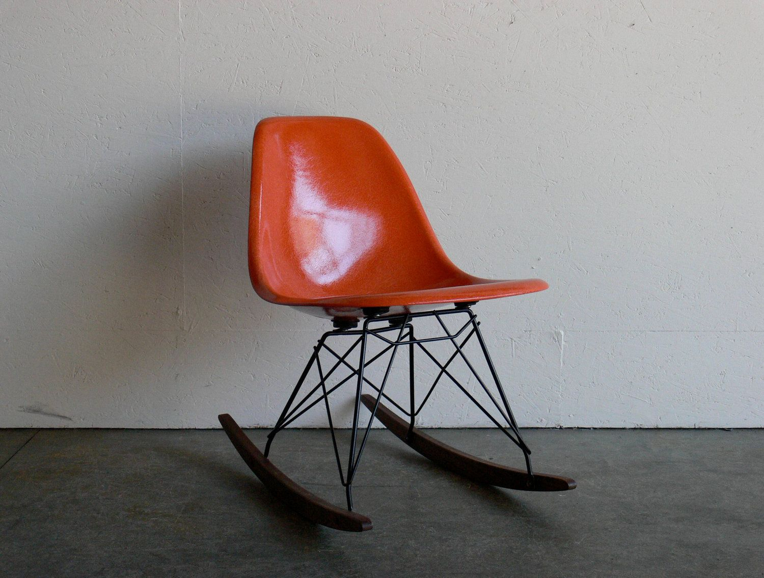 On Hold Eames For Herman Miller Fiberglass Side Chair Rocker Intended For Poly And Bark Patchwork Rocking Chairs (#5 of 20)
