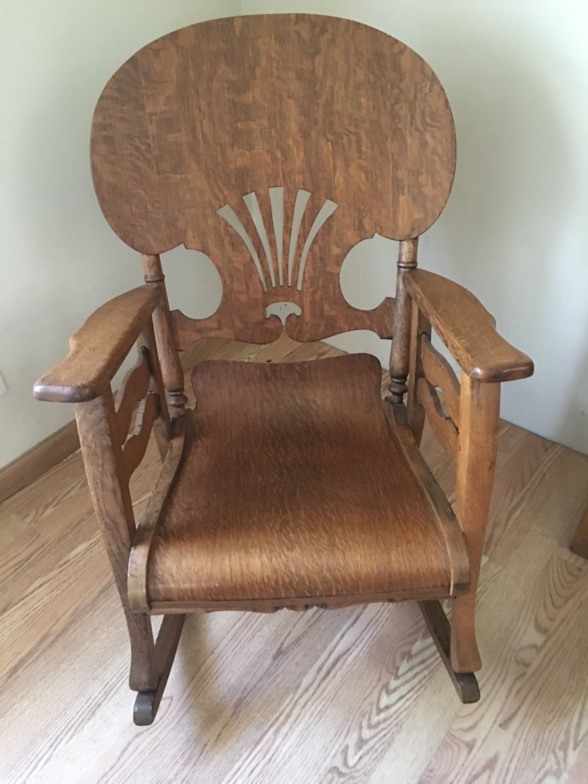 Original Antique Primitive Press Back Rocking Chair 1890 Throughout Rosewood Traditional Dark Oak Rocking Accent Chairs (View 17 of 20)