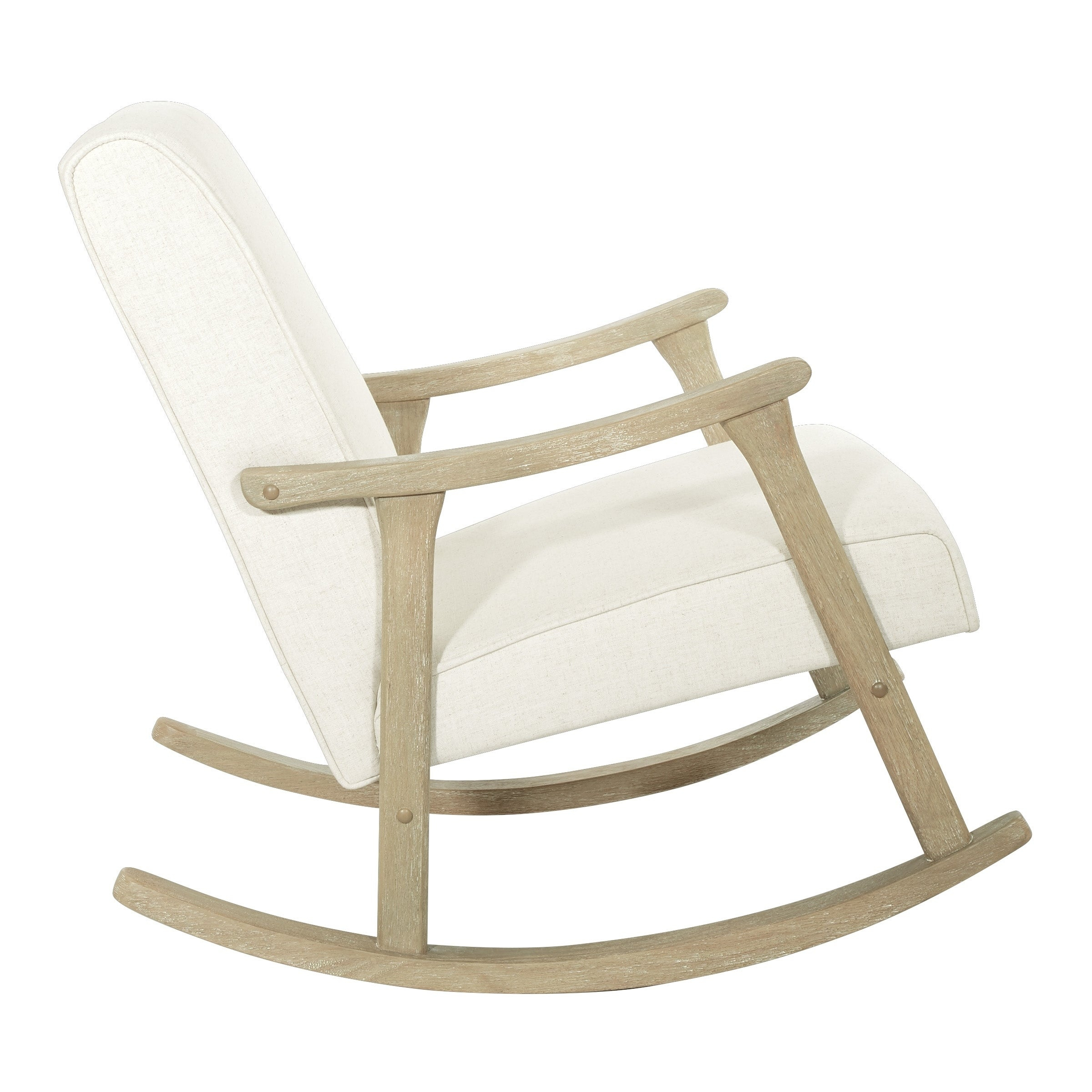 Osp Home Furnishings Gainsborough Rocker In Linen Fabric With Brushed  Finish Base Intended For Rocking Chairs In Linen Fabric With Brushed Finish Base (#11 of 20)