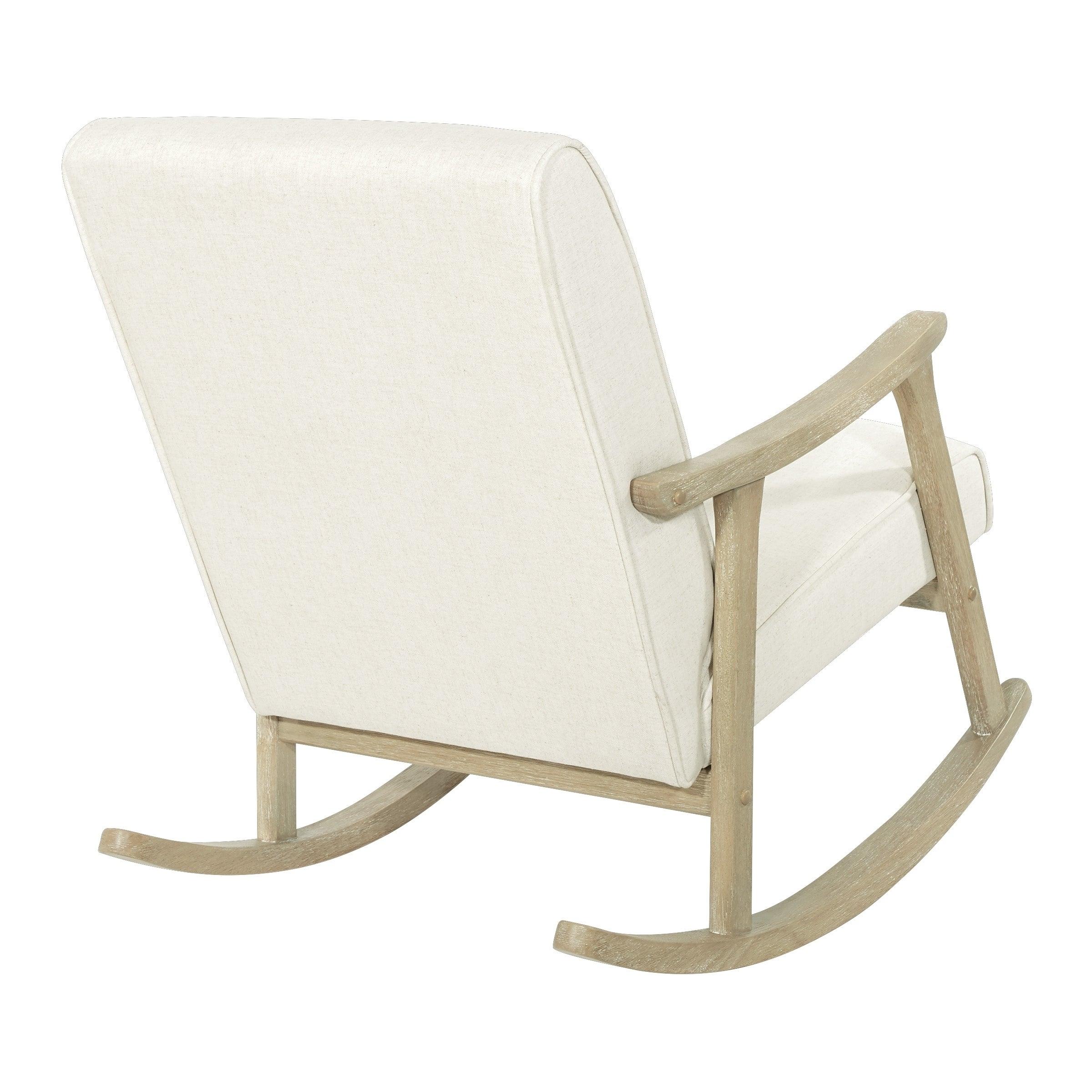 Osp Home Furnishings Gainsborough Rocker In Linen Fabric With Brushed  Finish Base Regarding Rocking Chairs In Linen Fabric With Brushed Finish Base (#12 of 20)