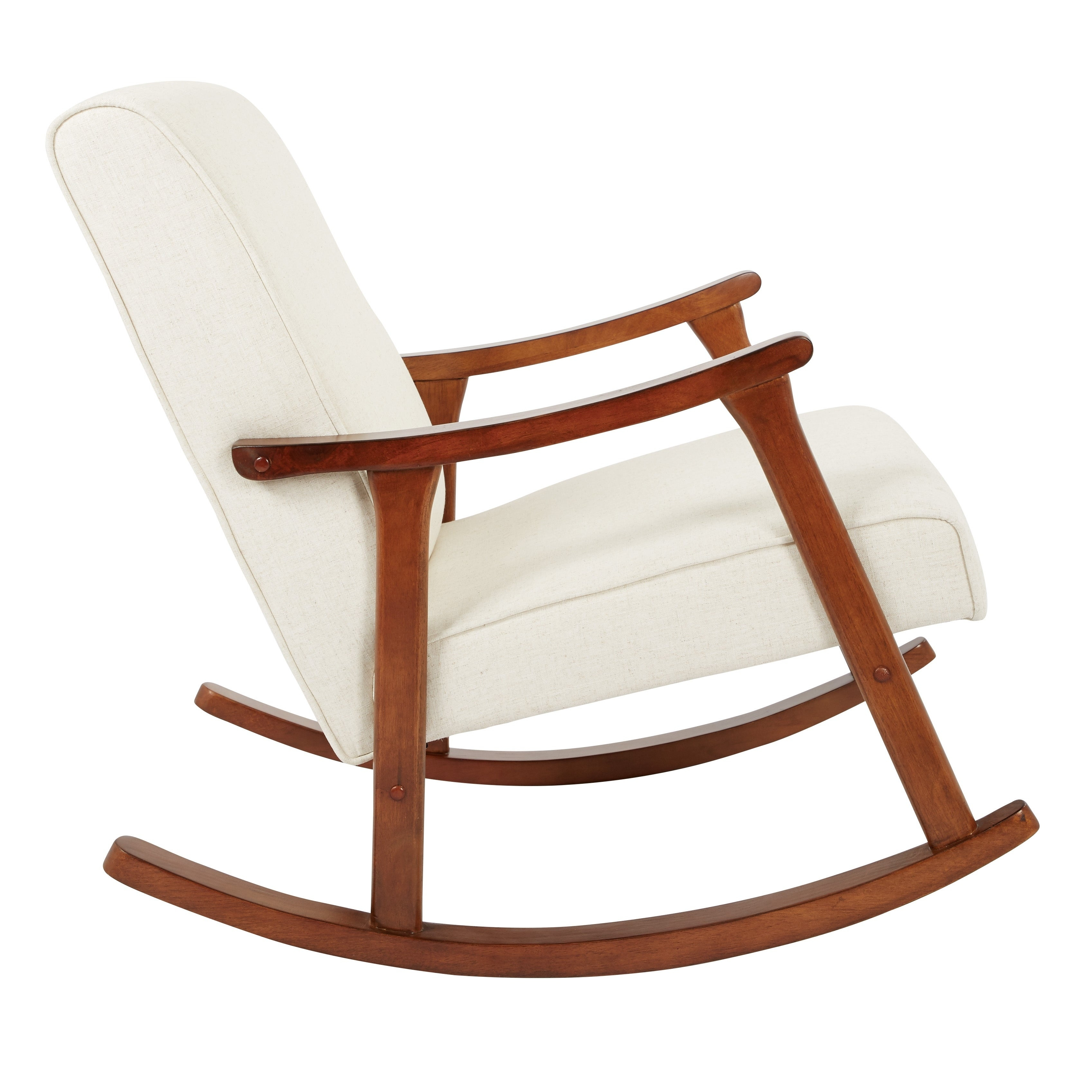 Osp Home Furnishings Gainsborough Rocker In Linen Fabric With Medium  Espresso Base Intended For Rocking Chairs In Linen Fabric With Medium Espresso Base (#10 of 20)