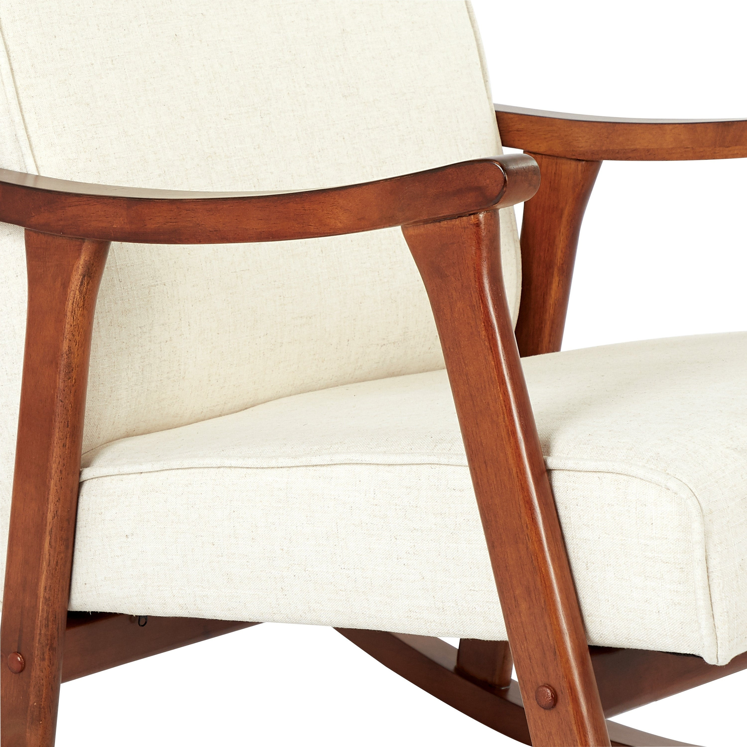 Osp Home Furnishings Gainsborough Rocker In Linen Fabric With Medium  Espresso Base With Rocking Chairs In Linen Fabric With Medium Espresso Base (#14 of 20)