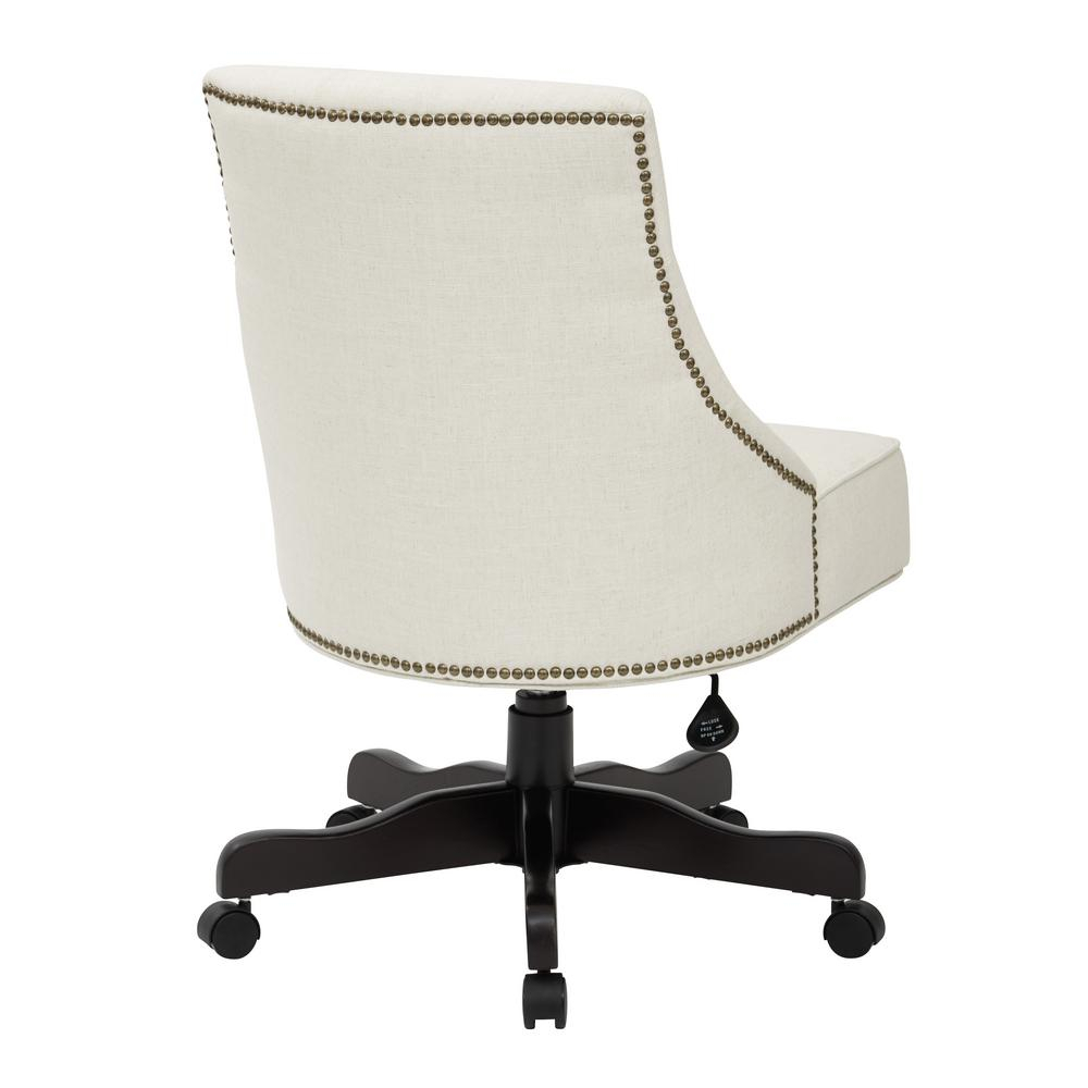 Osp Home Furnishings Rebecca Linen Fabric Tufted Office Regarding Rocking Chairs In Linen Fabric With Medium Espresso Base (#16 of 20)