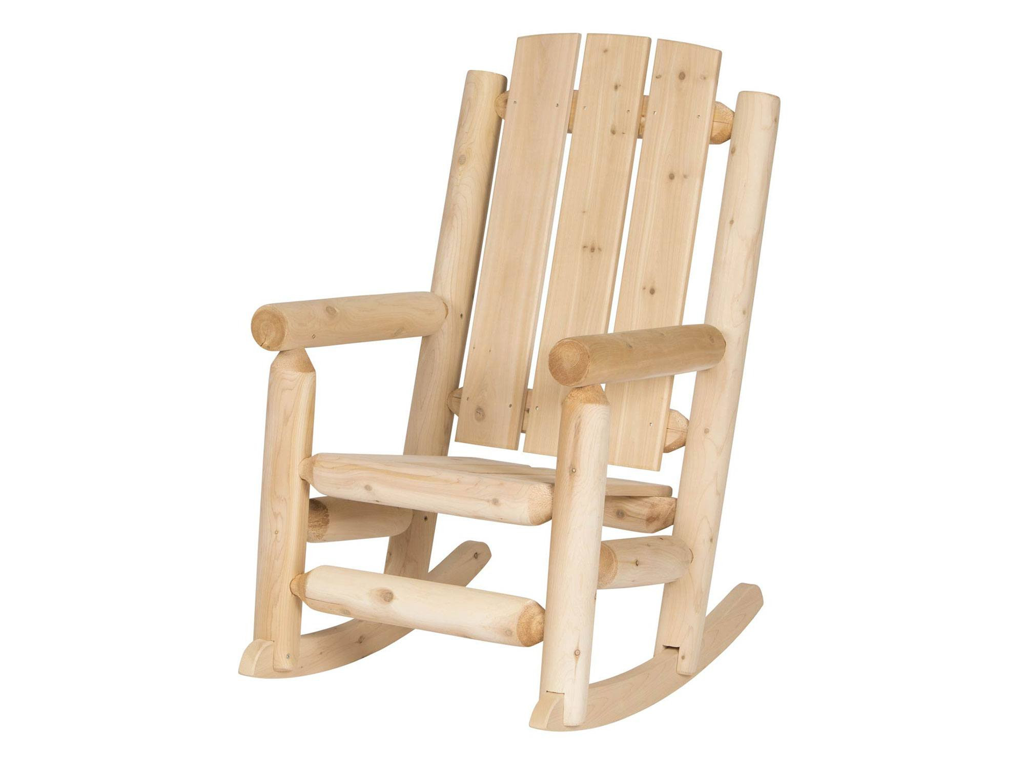 Outdoor Garden Log Rocking Chair With Regard To Indoor / Outdoor Porch Slat Rocking Chairs (#14 of 20)