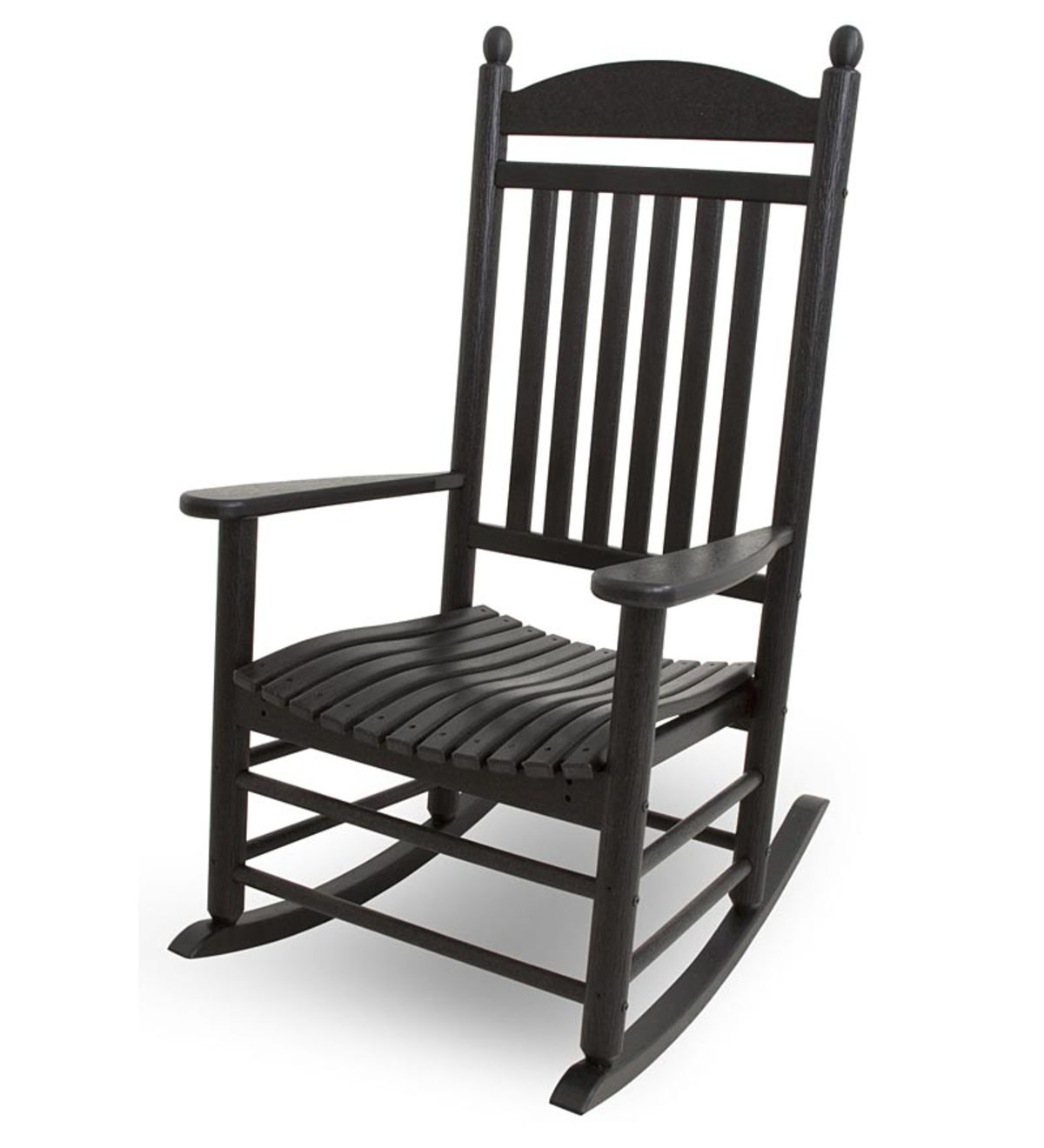 Outdoor Polywood Jefferson Rocking Chair | Plowhearth With Regard To Traditional Style Wooden Rocking Chairs With Contoured Seat, Black (#16 of 20)
