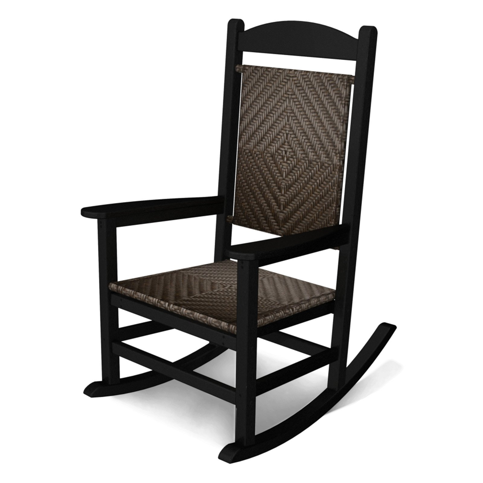 Outdoor Polywoodâ® Presidential Recycled Plastic Woven Intended For Black Plastic Rocking Chairs (#10 of 20)