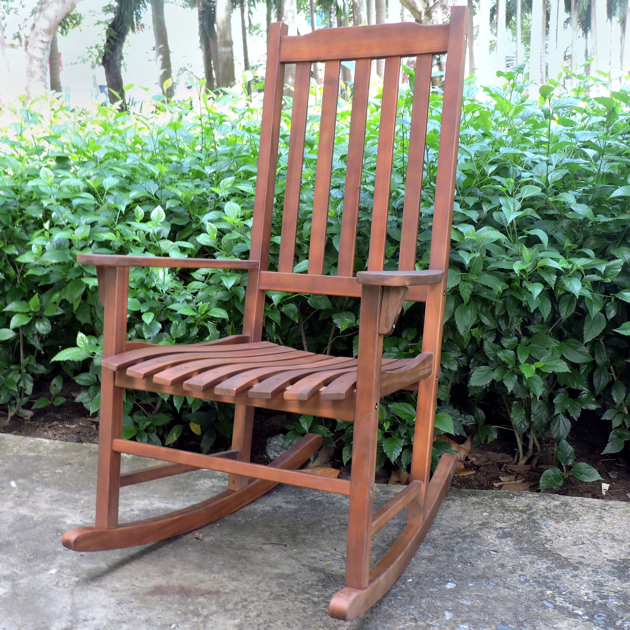 Outdoor Traditional Rocking Chair In Traditional Wooden Porch Rocking Chairs (#12 of 20)