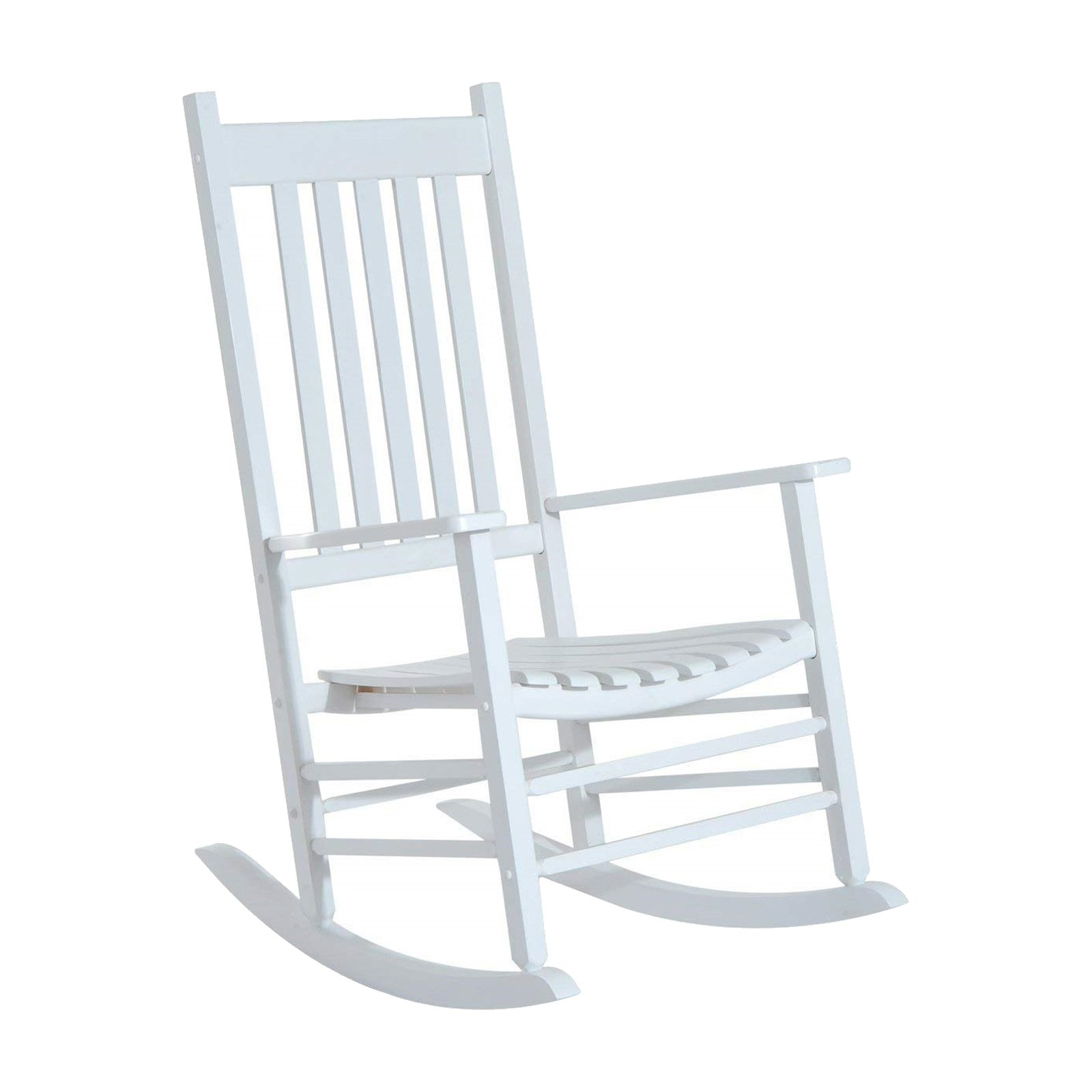 Outsunny Versatile Indoor/outdoor High Back Wooden Rocking Pertaining To Traditional Style Wooden Rocking Chairs With Contoured Seat, Black (#17 of 20)