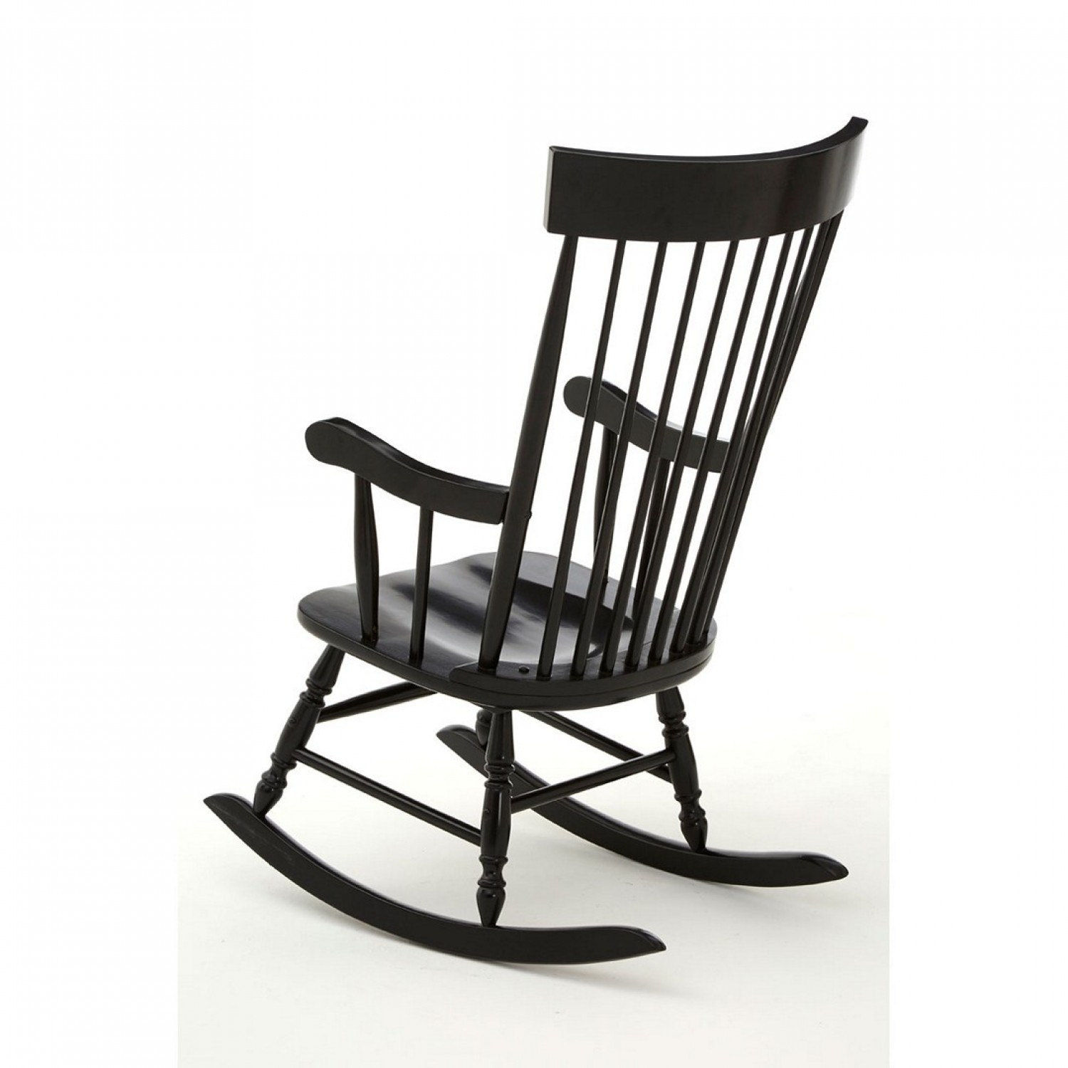 Own This Slat Rocking Chair, Black Colour, Plywood Pertaining To Black Rubberwood Rocking Chairs (#12 of 20)