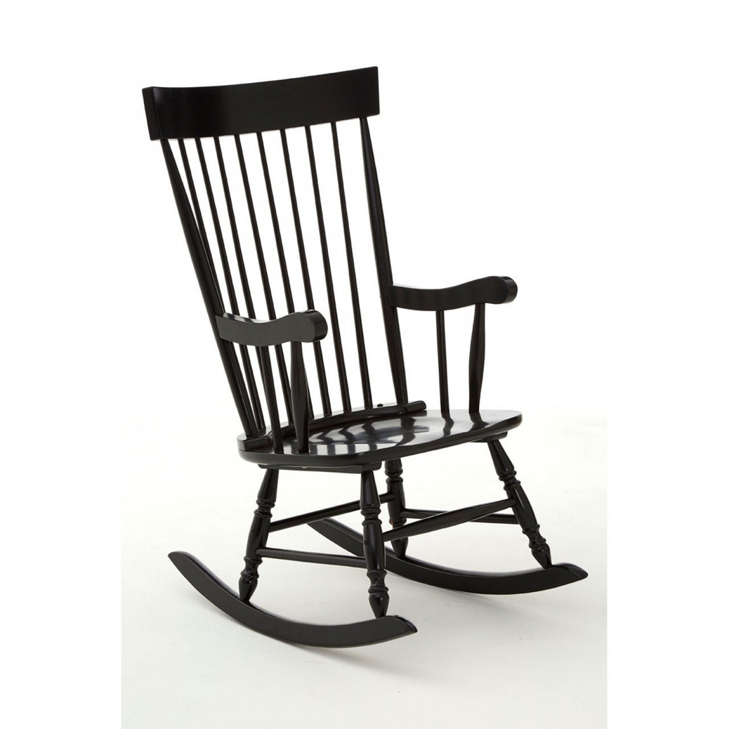 Own This Slat Rocking Chair, Black Colour, Plywood Pertaining To Black Rubberwood Rocking Chairs (#13 of 20)