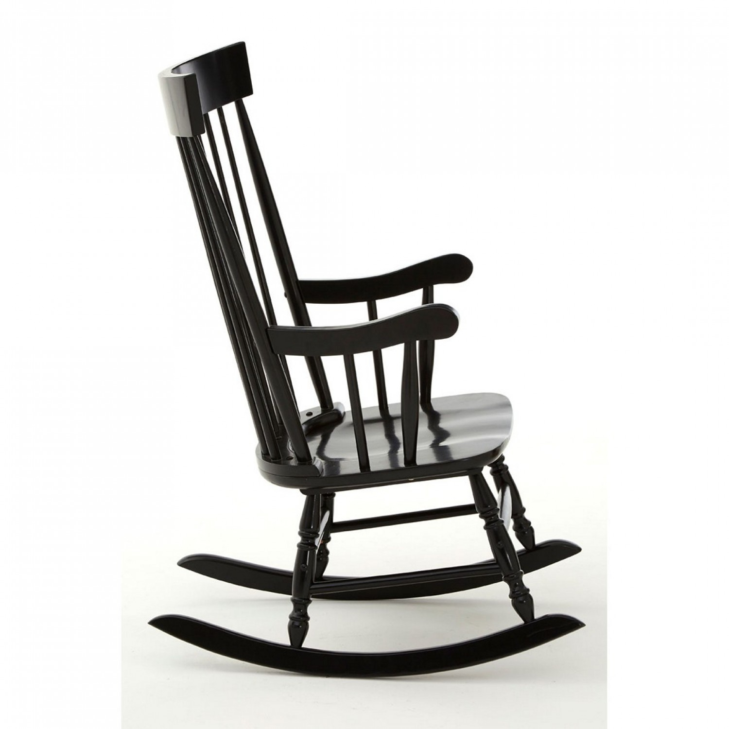 Own This Slat Rocking Chair, Black Colour, Plywood Pertaining To Black Rubberwood Rocking Chairs (#11 of 20)