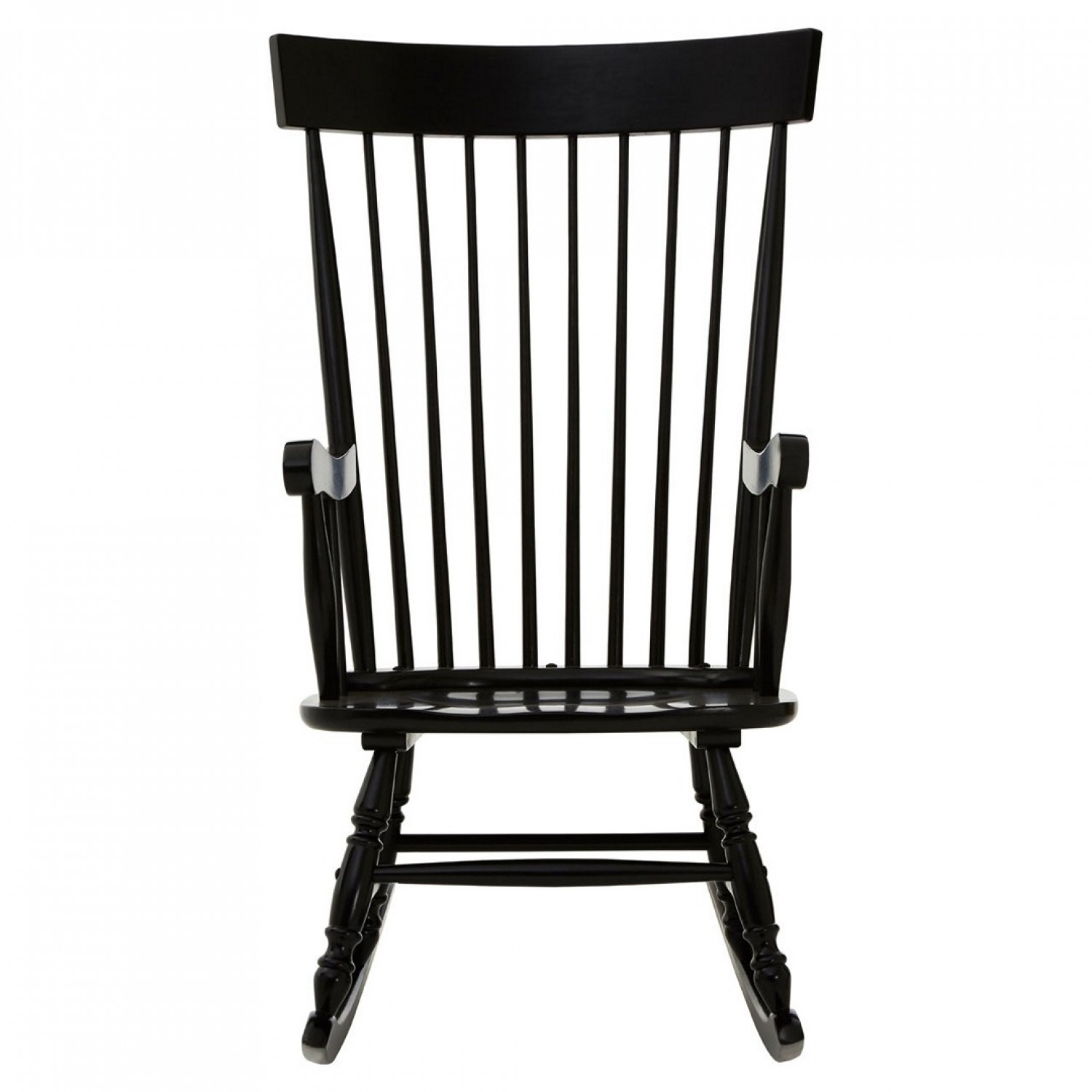 Own This Slat Rocking Chair, Black Colour, Plywood With Regard To Black Rubberwood Rocking Chairs (#14 of 20)