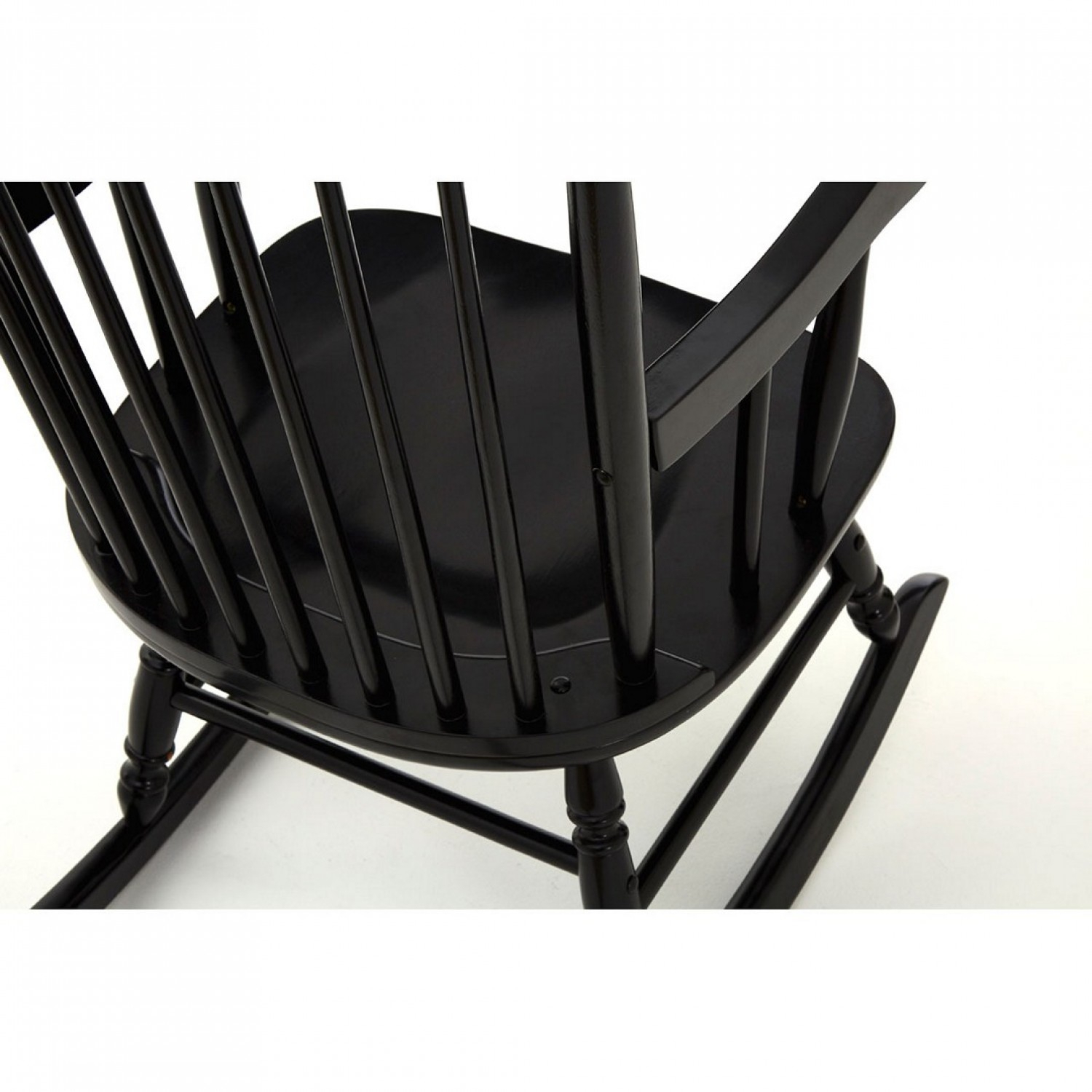 Own This Slat Rocking Chair, Black Colour, Plywood Within Black Rubberwood Rocking Chairs (#16 of 20)