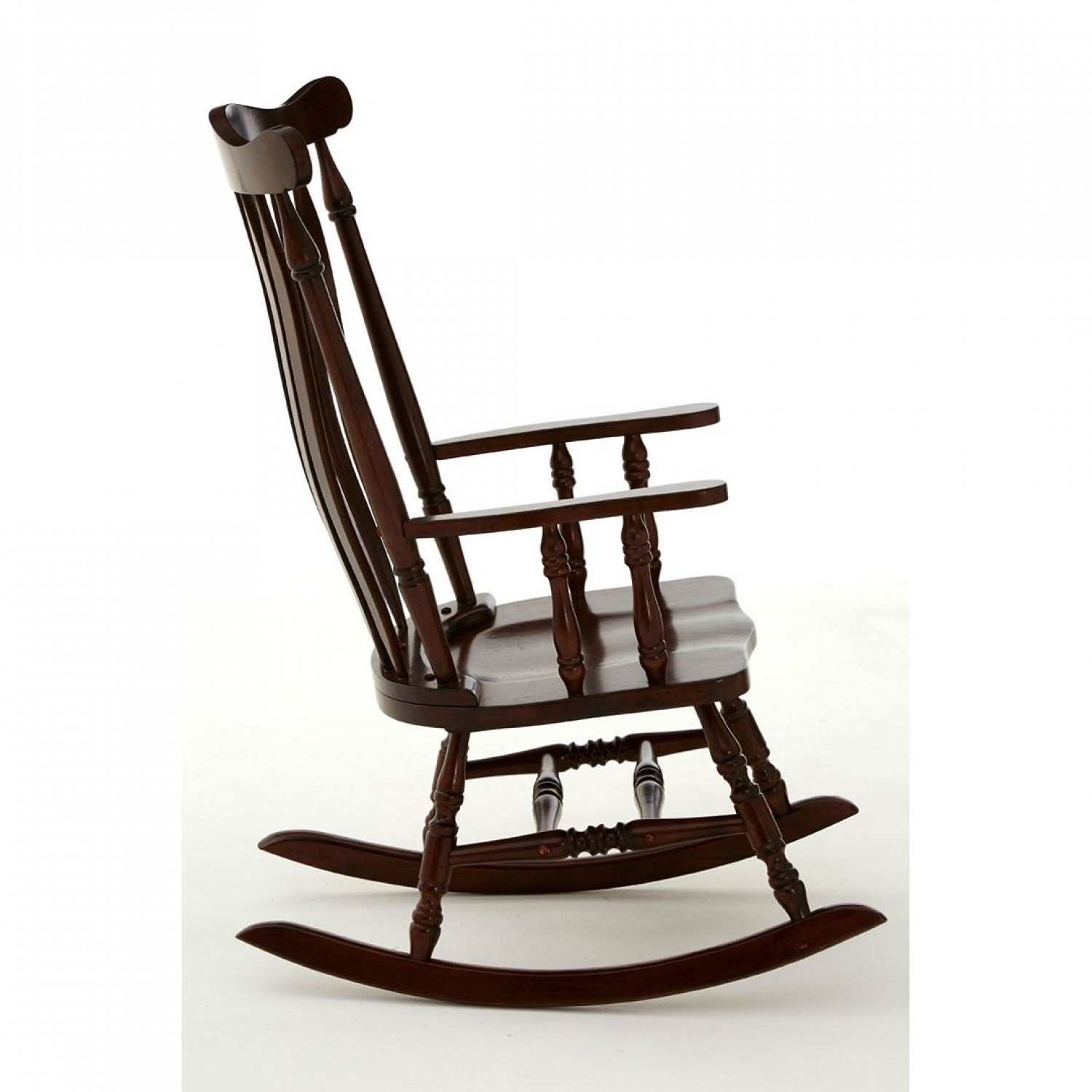 Own This Traditional Rocking Chair, Espresso Colour, Plywood Regarding Brady Traditional White Rocking Chairs (#14 of 20)