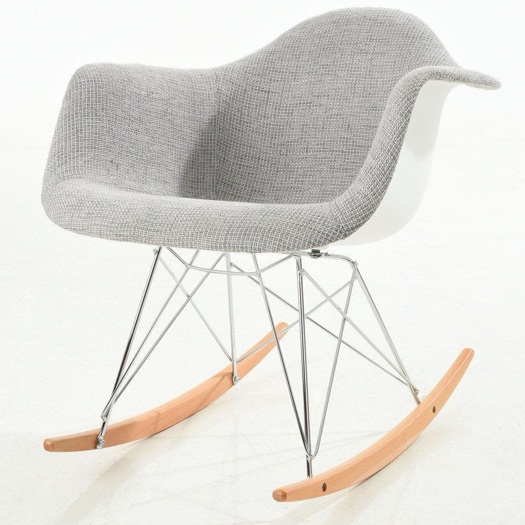 Inspiration about Padded Rocker In 2019 | Small Occasional Armchair Pertaining To Poly And Bark Rocking Chairs Lounge Chairs (#13 of 20)
