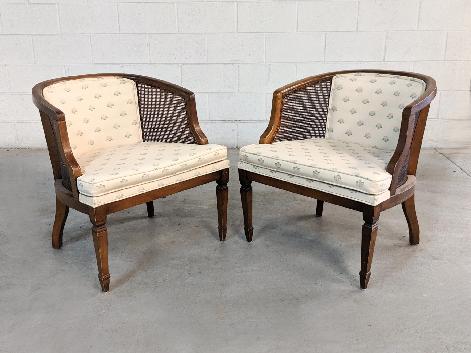 Inspiration about Pair Of Vintage Dark Wood Caned Accent Chairs For Restoration Regarding Rosewood Traditional Dark Oak Rocking Accent Chairs (#16 of 20)