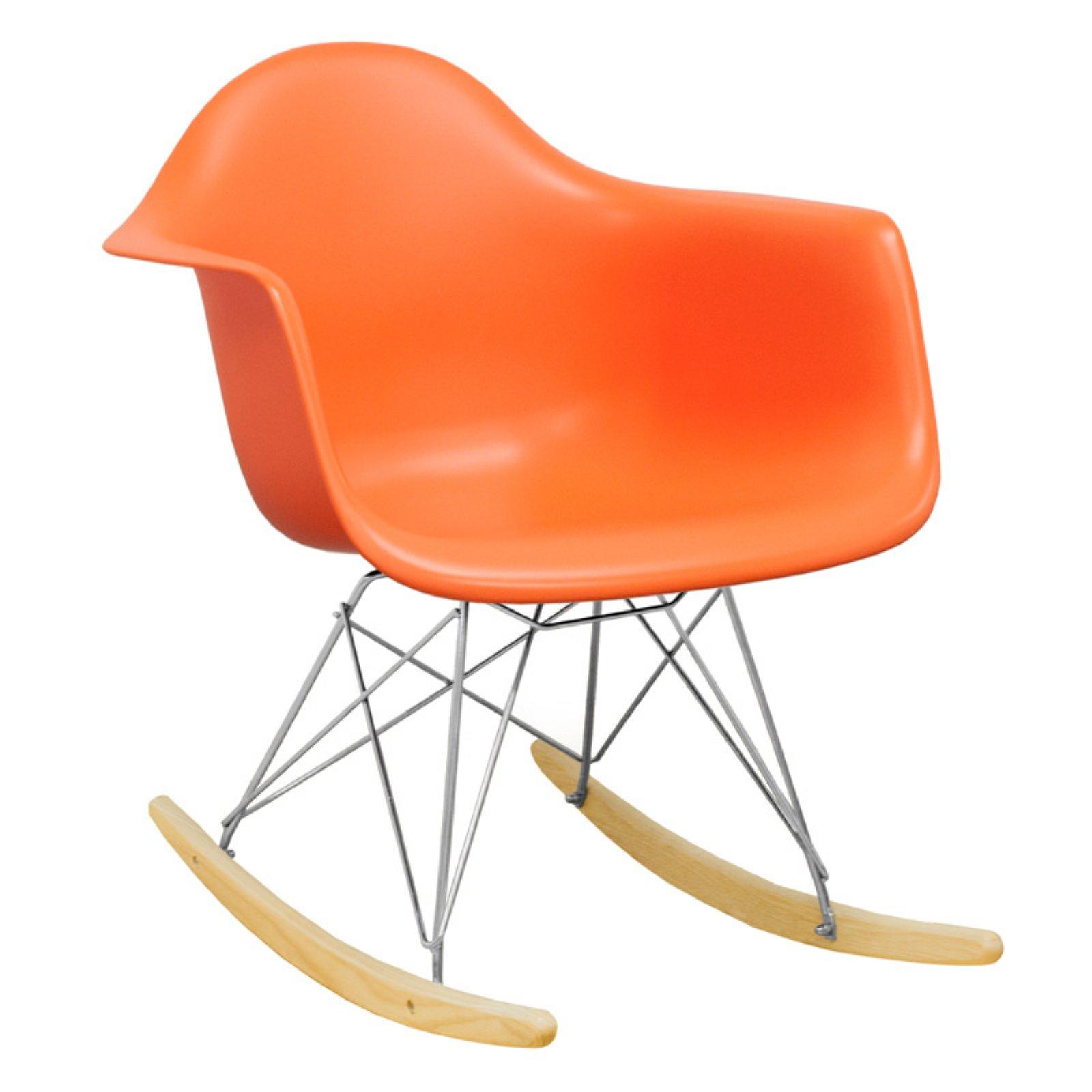 Paris Tower Rocker Lounge Chair (Orange) With Orange Rocking Chairs Lounge Chairs (View 10 of 20)
