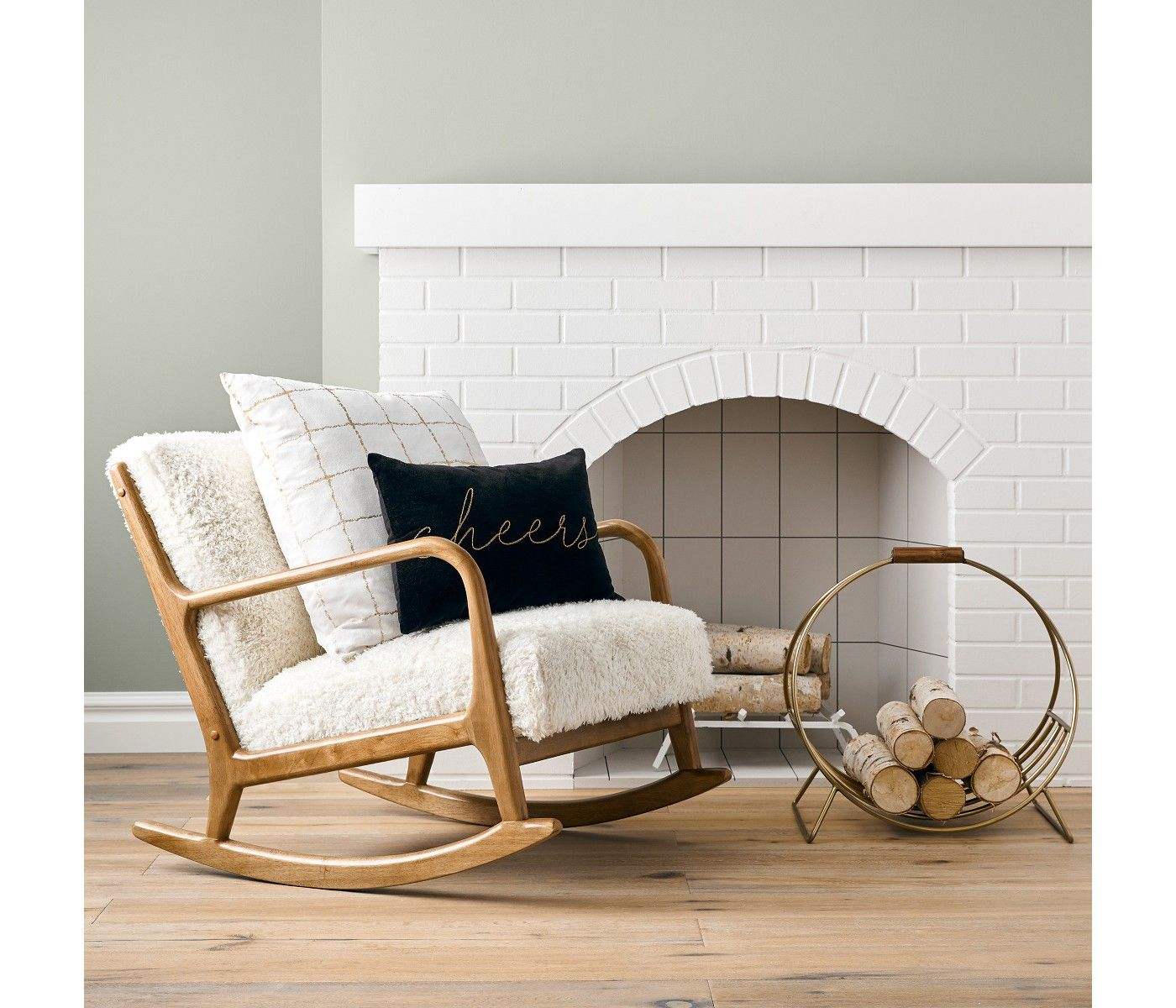 Pin On For The Home Within Rocking Chairs In Linen Fabric With Medium Espresso Base (#17 of 20)