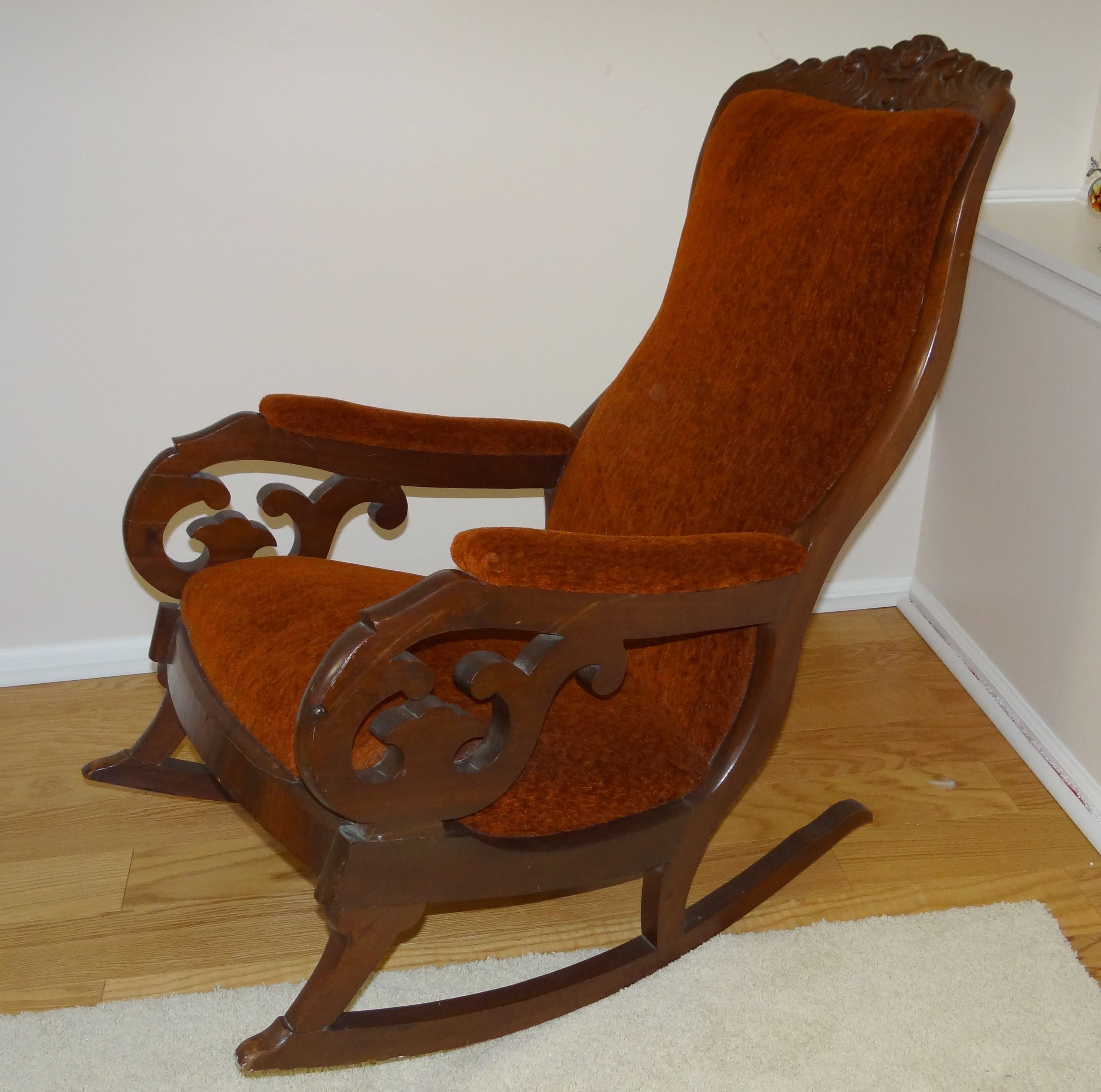 Inspiration about Pinantiques America On Antique | Rocking Chair, Glider Throughout Tobacco Brown Wooden Rocking Chairs (#14 of 20)