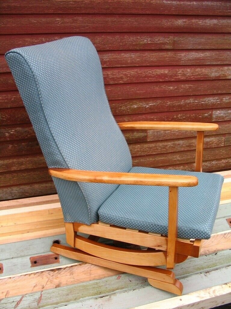 Inspiration about Platform Rocking Armchair Spring Rocker Chair High Nursing Chair  Mid Century 1950 60'S Danish Style | In Wester Hailes, Edinburgh | Gumtree With Regard To Mid Century Birch Rocking Chairs (#7 of 20)