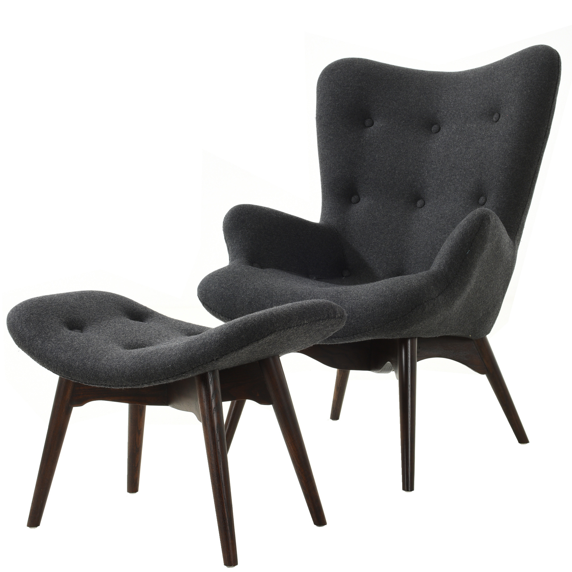 Inspiration about Poly And Bark Auzzie Lounge Chair And Ottoman , Multiple Colors For Poly And Bark Rocking Chairs Lounge Chairs In Black (#9 of 20)