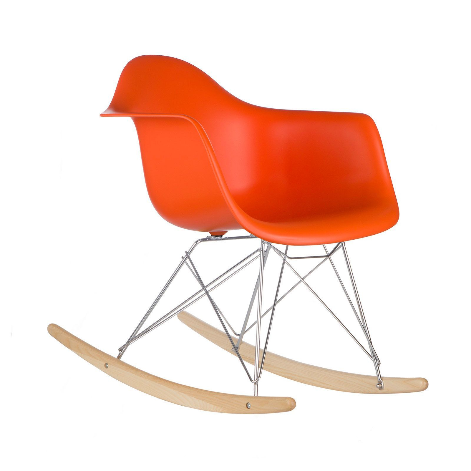 Inspiration about Poly And Bark Orange Rocker Lounge Chair | Diff Furniture In Intended For Poly And Bark Rocking Chairs Lounge Chairs In Black (#5 of 20)