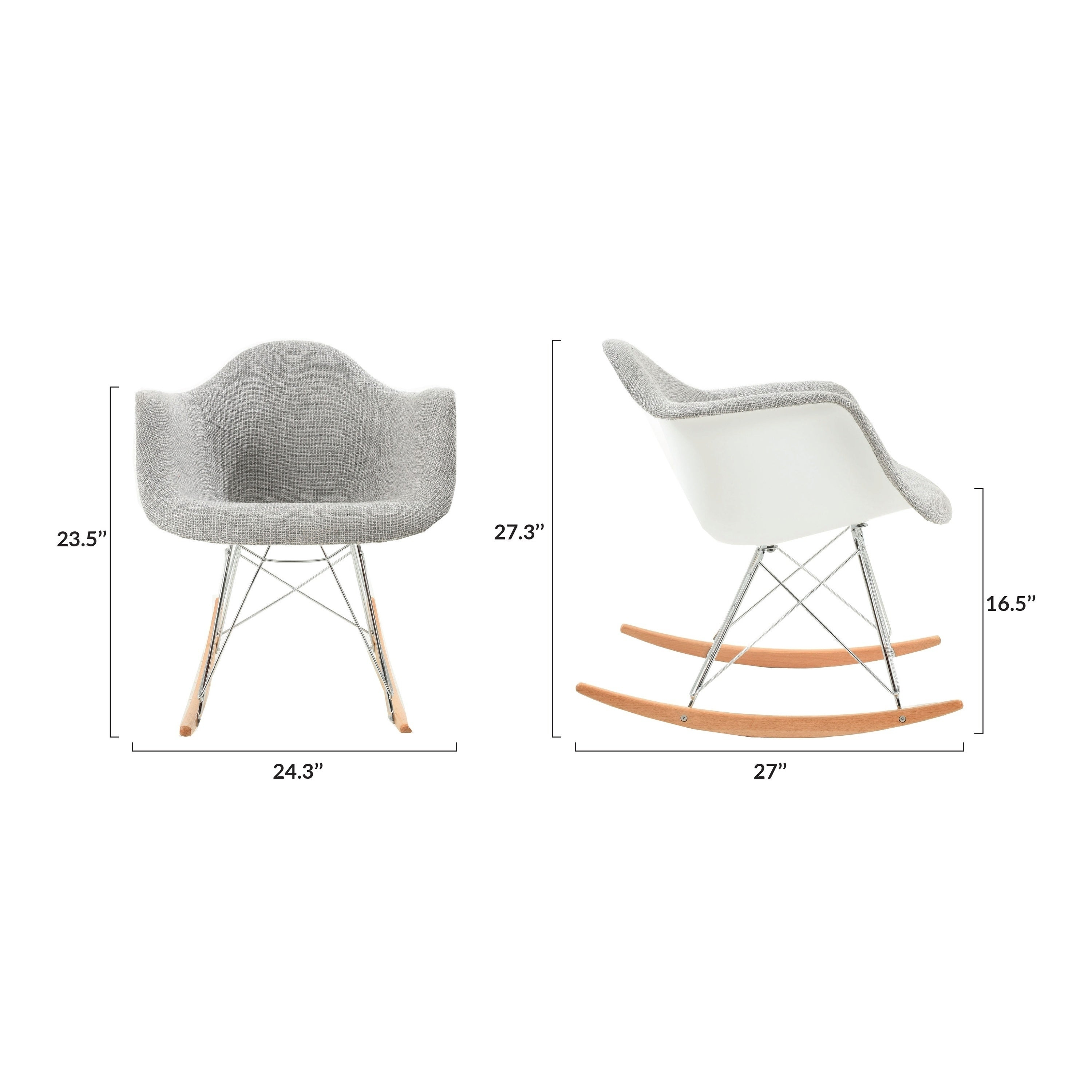 Inspiration about Poly And Bark Padded Rocker With Regard To Poly And Bark Blue Rocking Chairs Lounge Chairs (#9 of 20)