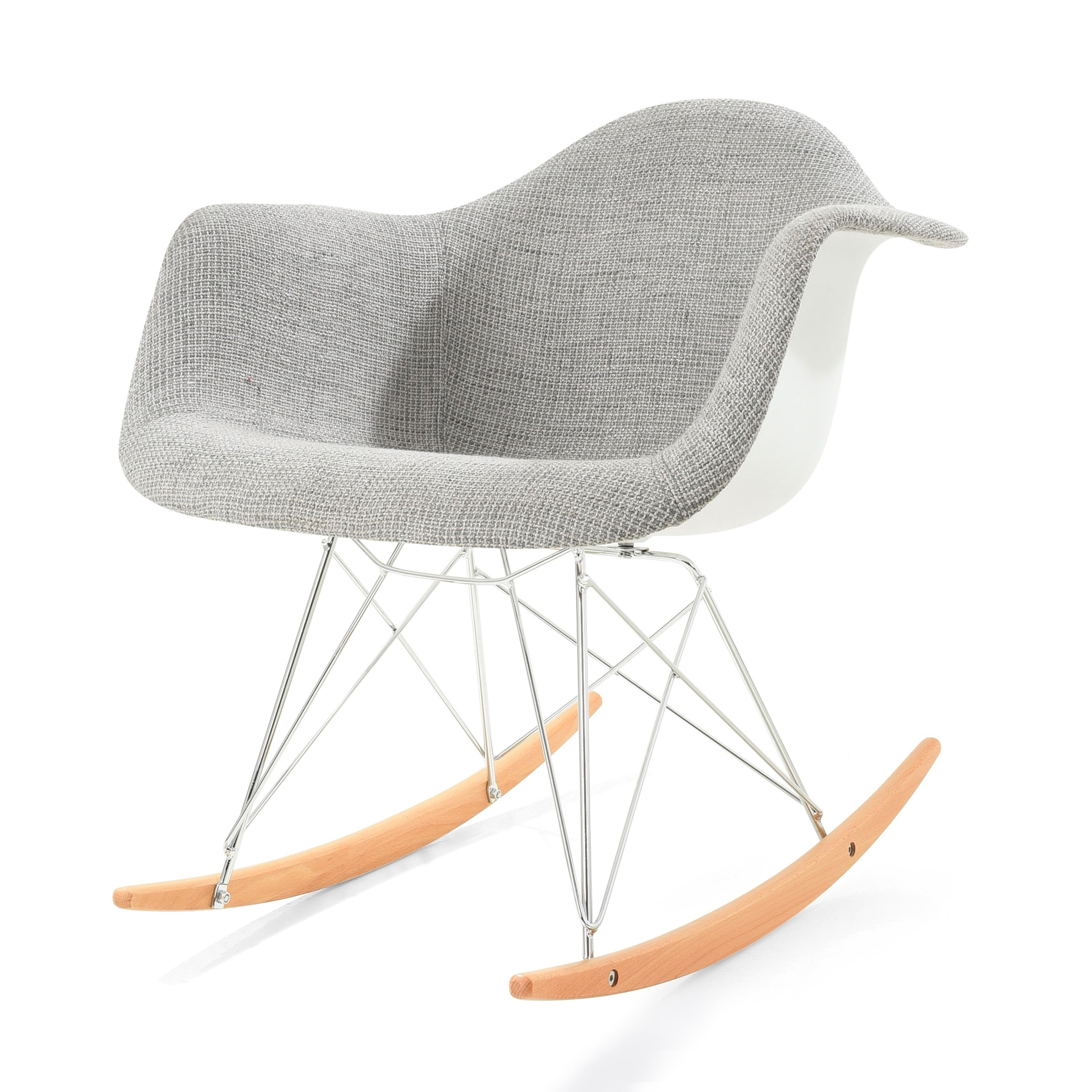 Inspiration about Poly And Bark Padded Rocker With Regard To Poly And Bark Rocking Chairs Lounge Chairs In Black (#17 of 20)