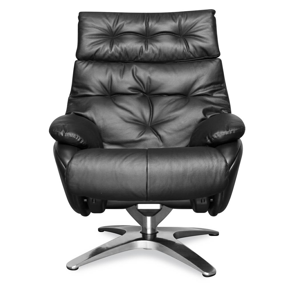 Inspiration about Poly And Bark Paradigm Black Leather Lounge Chair With With Poly And Bark Rocking Chairs Lounge Chairs In Black (#20 of 20)