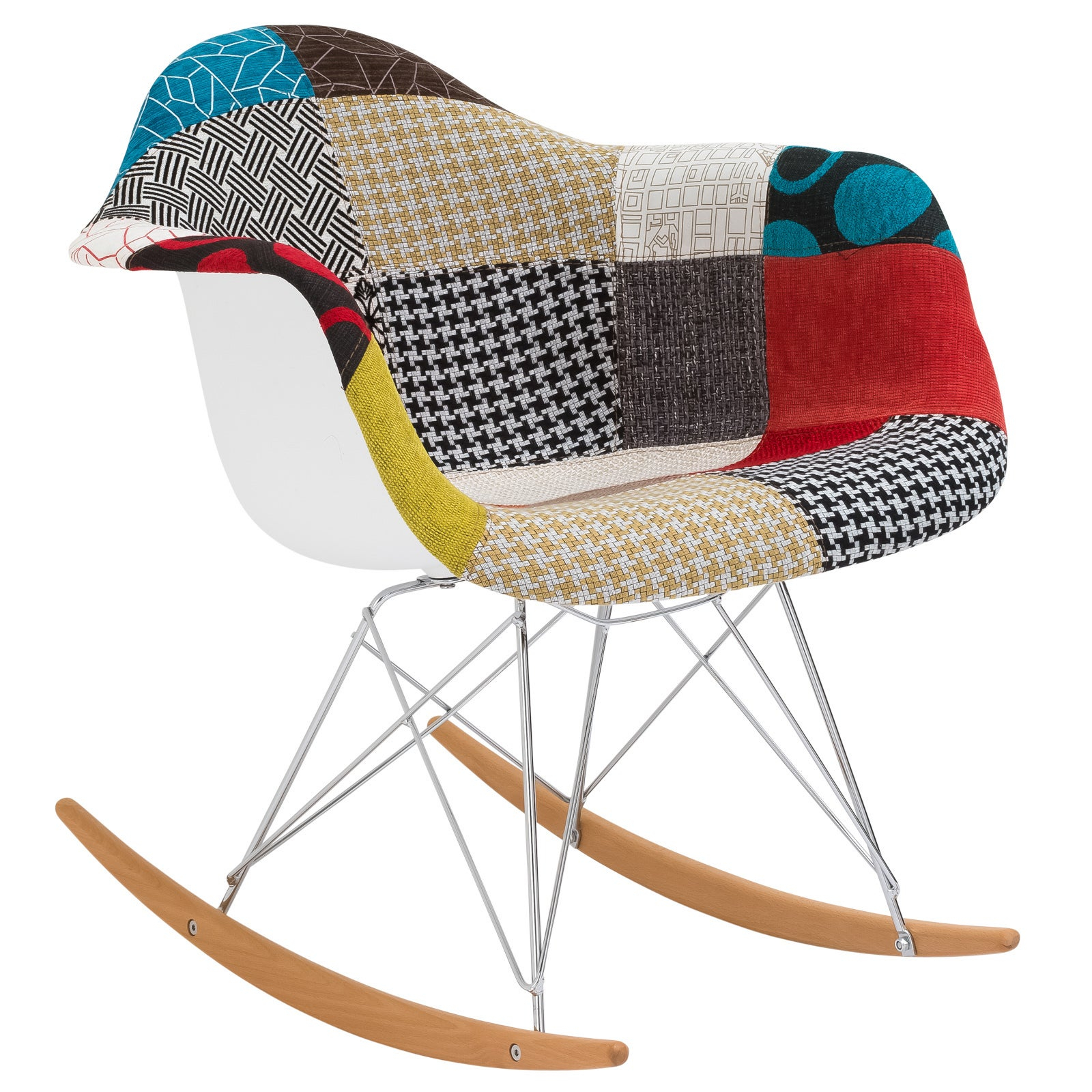 Inspiration about Poly And Bark Patchwork Rocking Chair In Poly And Bark Blue Rocking Chairs Lounge Chairs (#6 of 20)