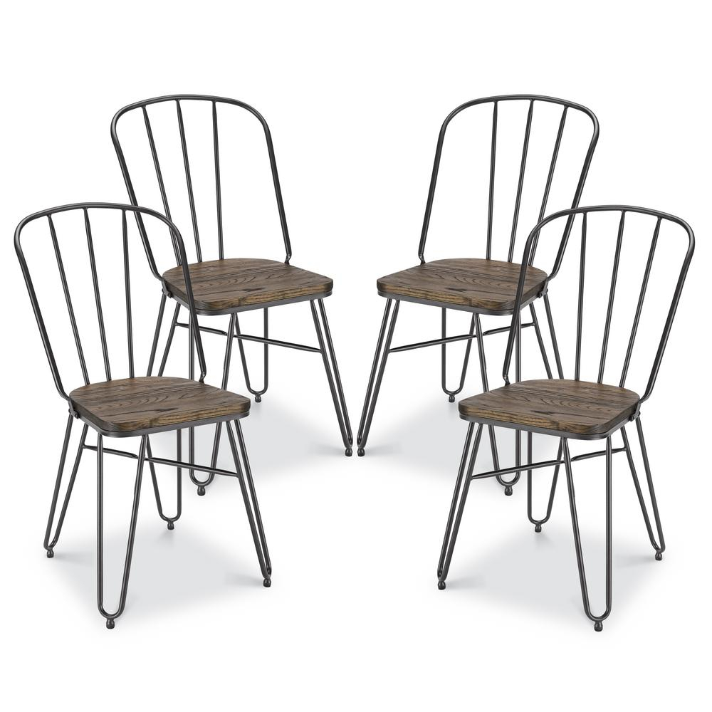 Inspiration about Poly And Bark Porter Walnut Dining Chair (Set Of 4) Hd Dc436 With Regard To Poly And Bark Patchwork Rocking Chairs (#7 of 20)