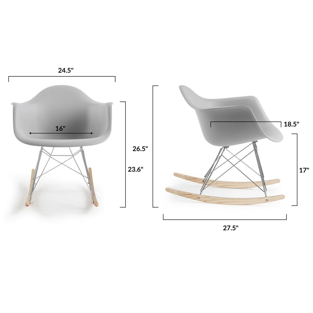 Inspiration about Poly And Bark Rocker Harbor Grey Lounge Chair Hd 121 Hrgy For Poly And Bark Blue Rocking Chairs Lounge Chairs (#4 of 20)